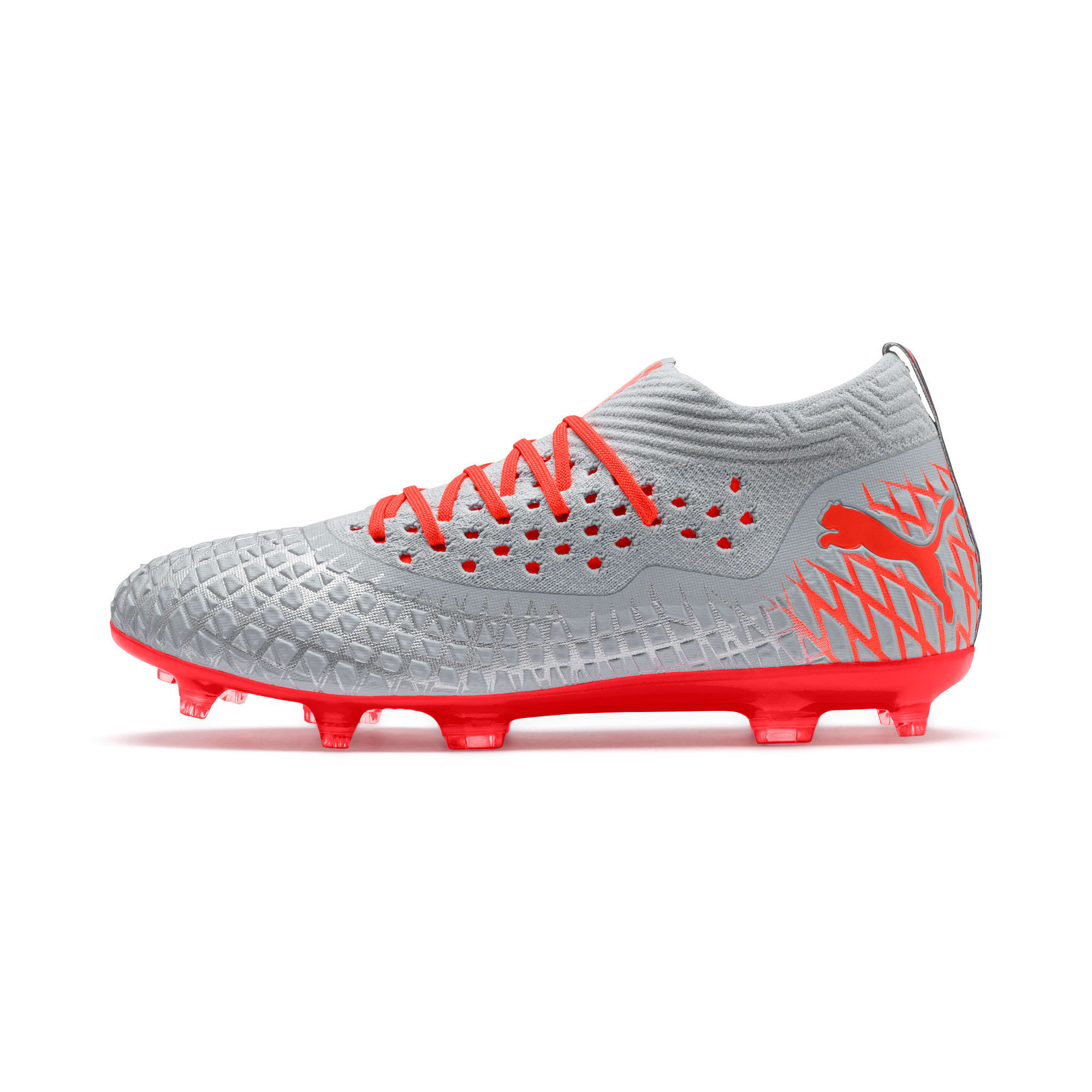 Thumbnail 1 of FUTURE 4.2 NETFIT FG/AG Men's Football Boots, Glacial Blue-Nrgy Red, medium