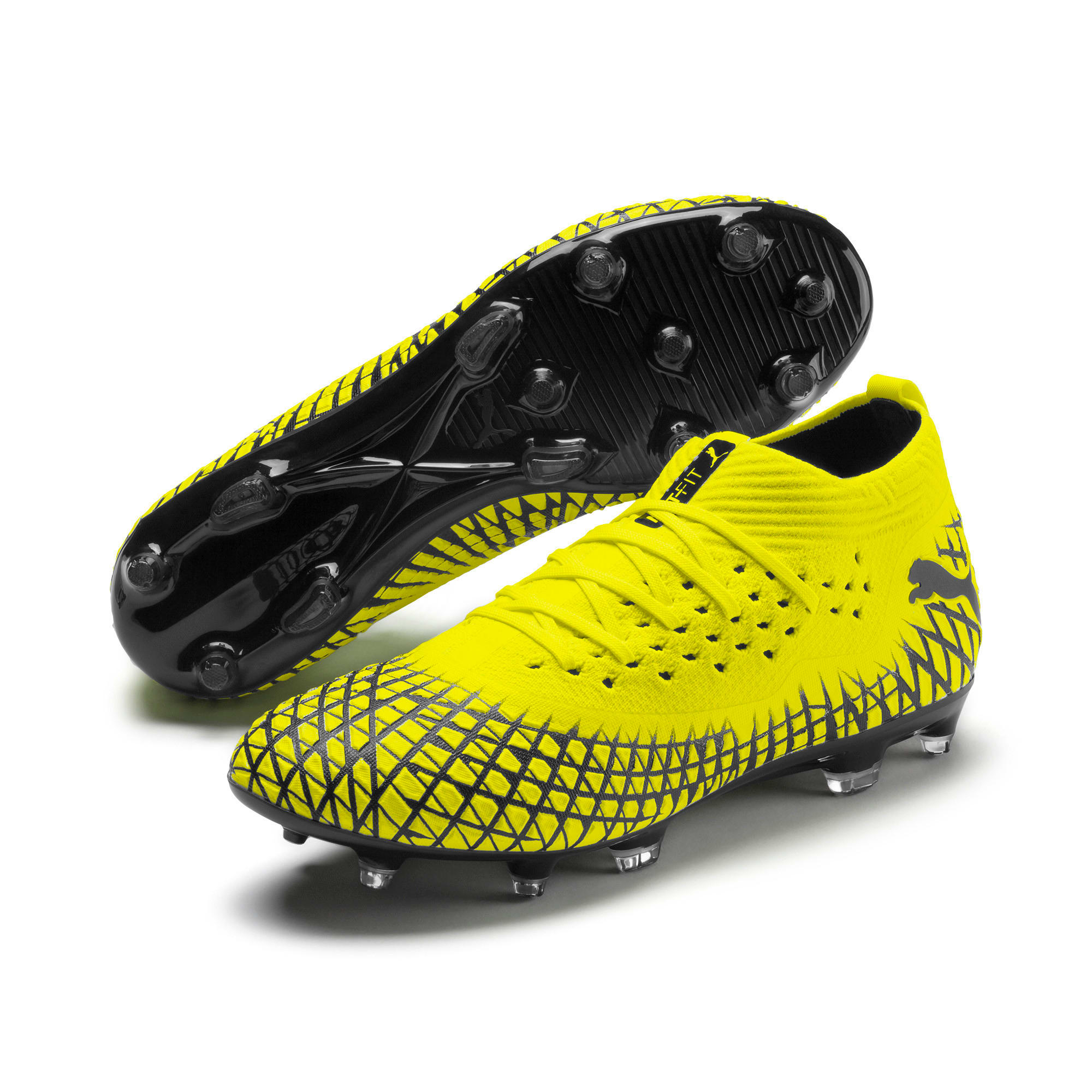Thumbnail 3 of FUTURE 4.2 NETFIT FG/AG voetbalschoenen voor heren, Yellow Alert-Puma Black, medium