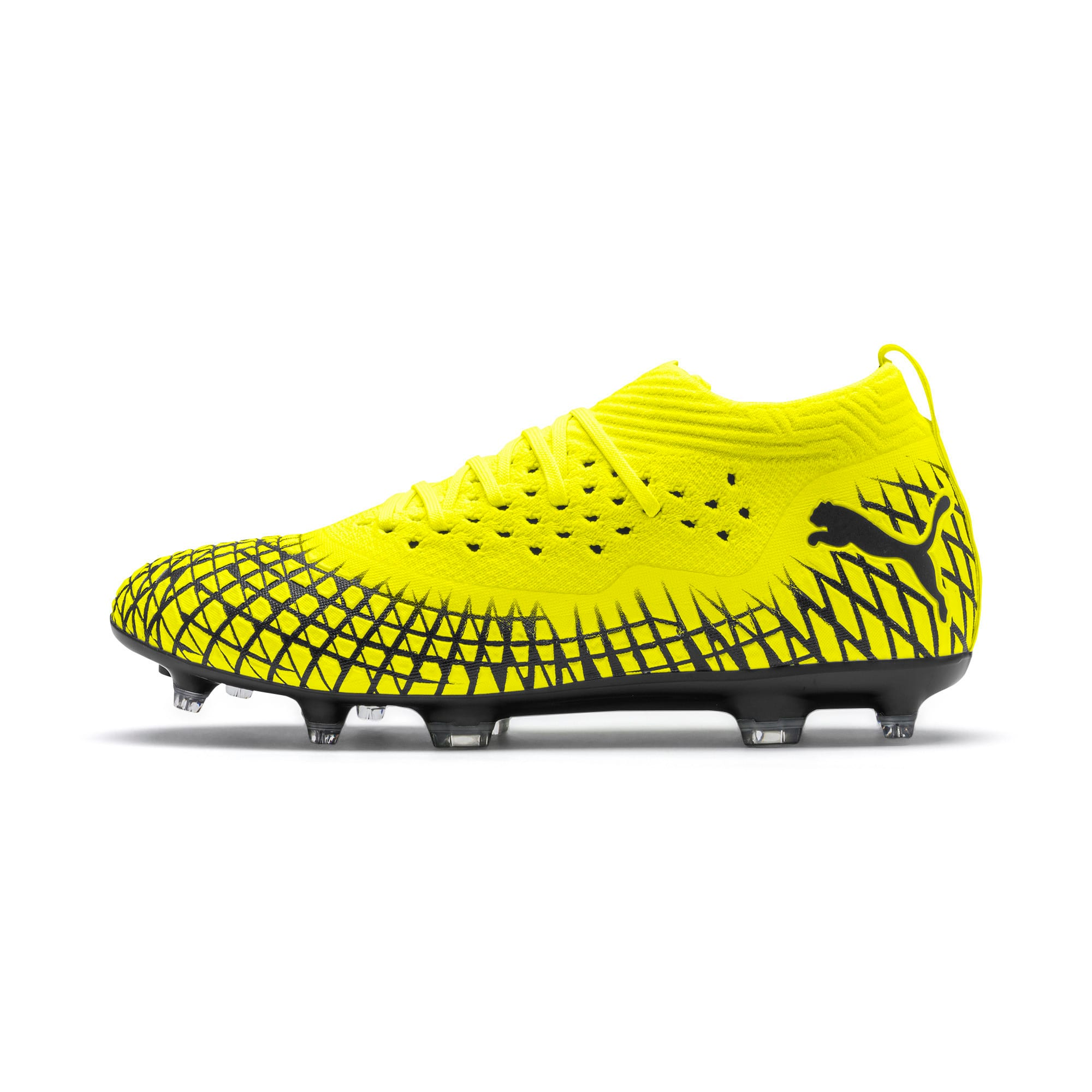 Thumbnail 1 of FUTURE 4.2 NETFIT FG/AG voetbalschoenen voor heren, Yellow Alert-Puma Black, medium