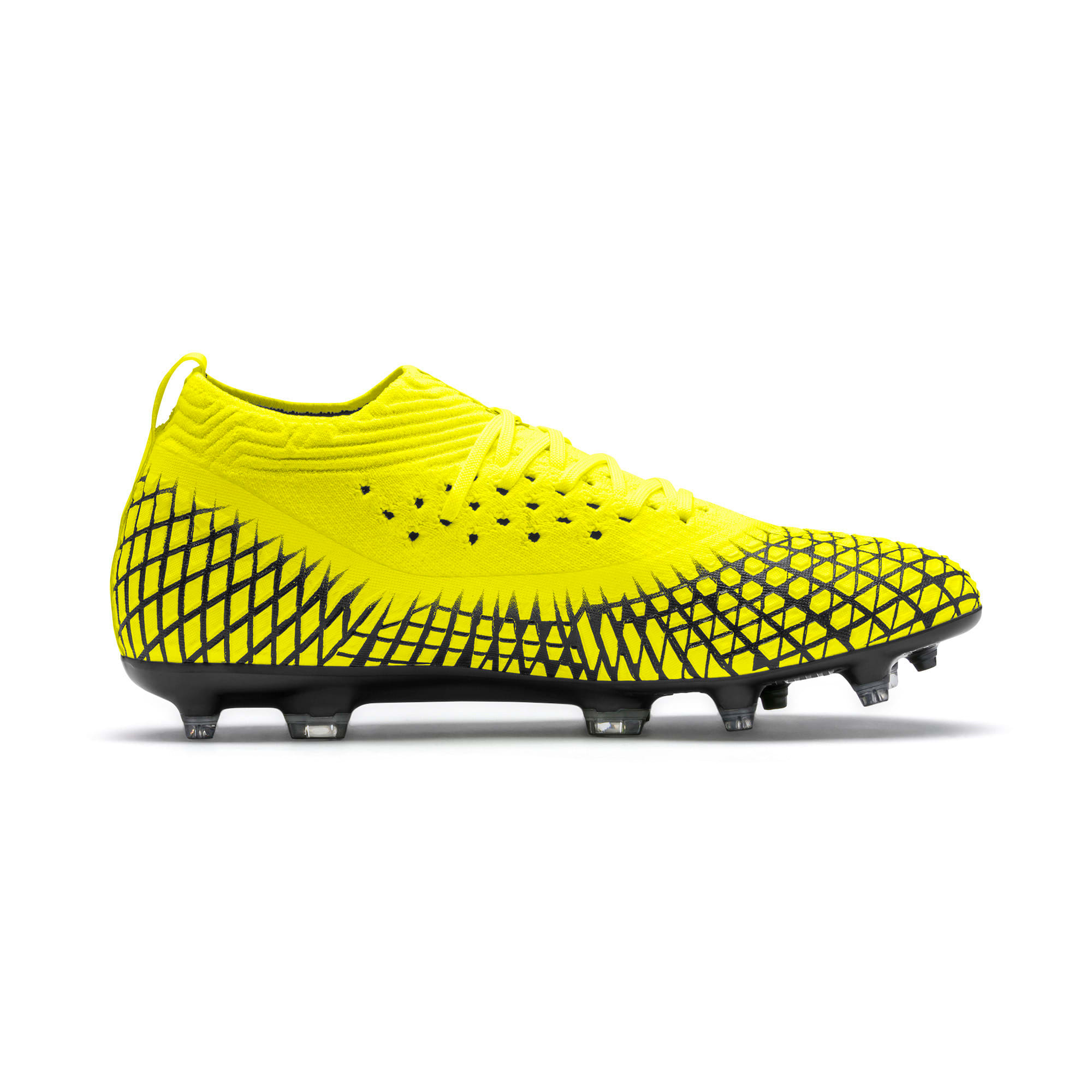 Thumbnail 6 of FUTURE 4.2 NETFIT FG/AG voetbalschoenen voor heren, Yellow Alert-Puma Black, medium