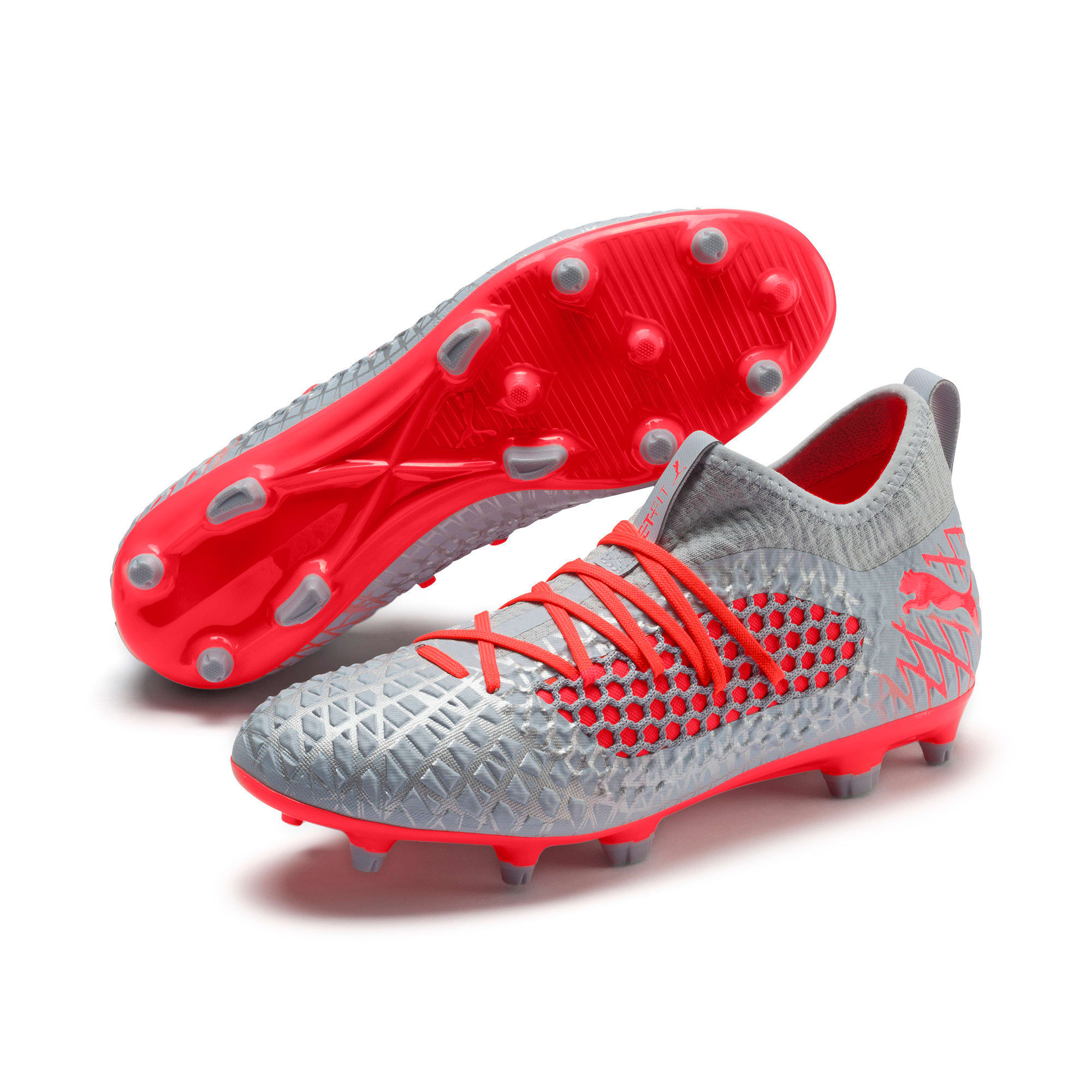 Thumbnail 3 of FUTURE 4.3 NETFIT FG/AG Herren Fußballschuhe, Glacial Blue-Nrgy Red, medium