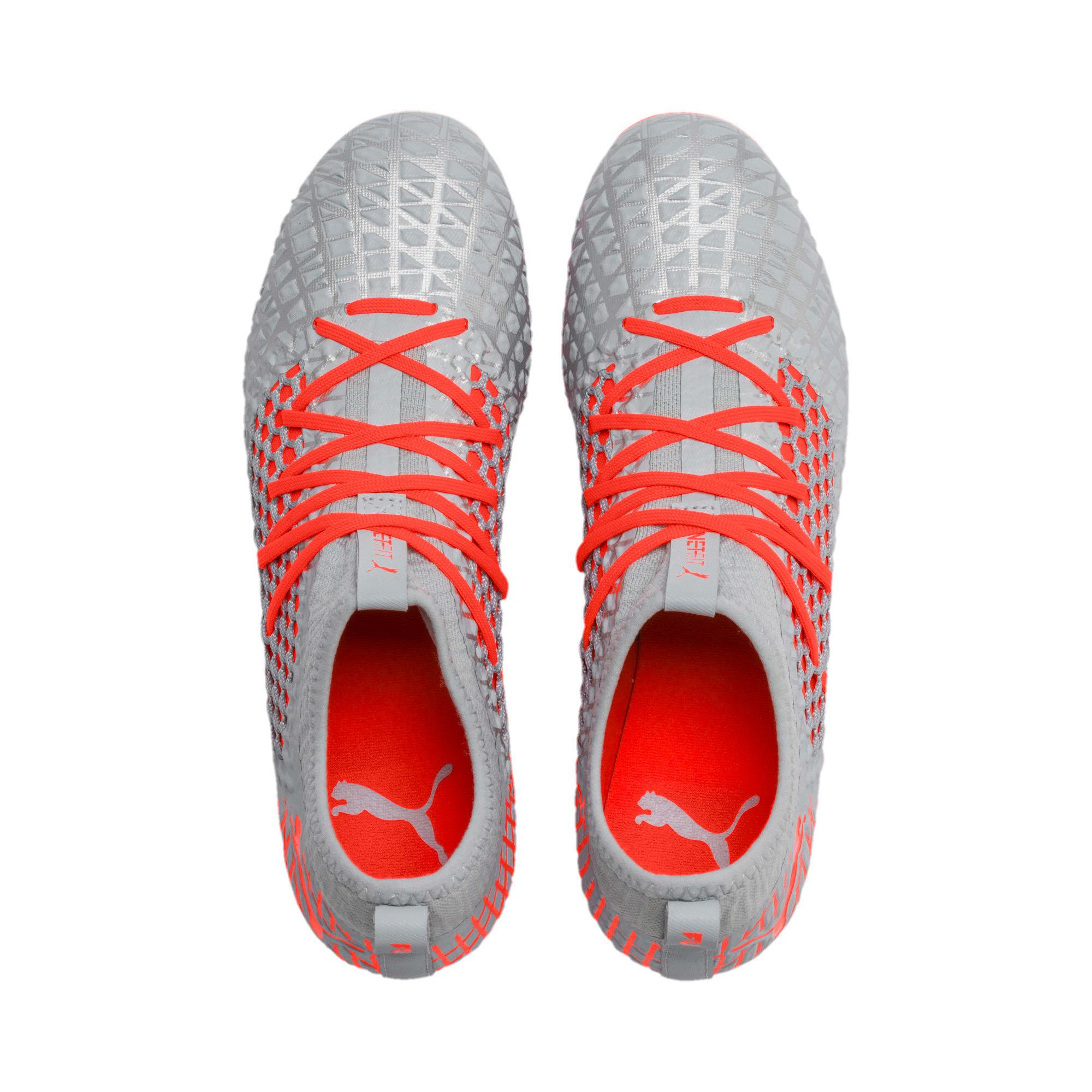 Thumbnail 7 of FUTURE 4.3 NETFIT FG/AG Men's Soccer Cleats, Glacial Blue-Nrgy Red, medium