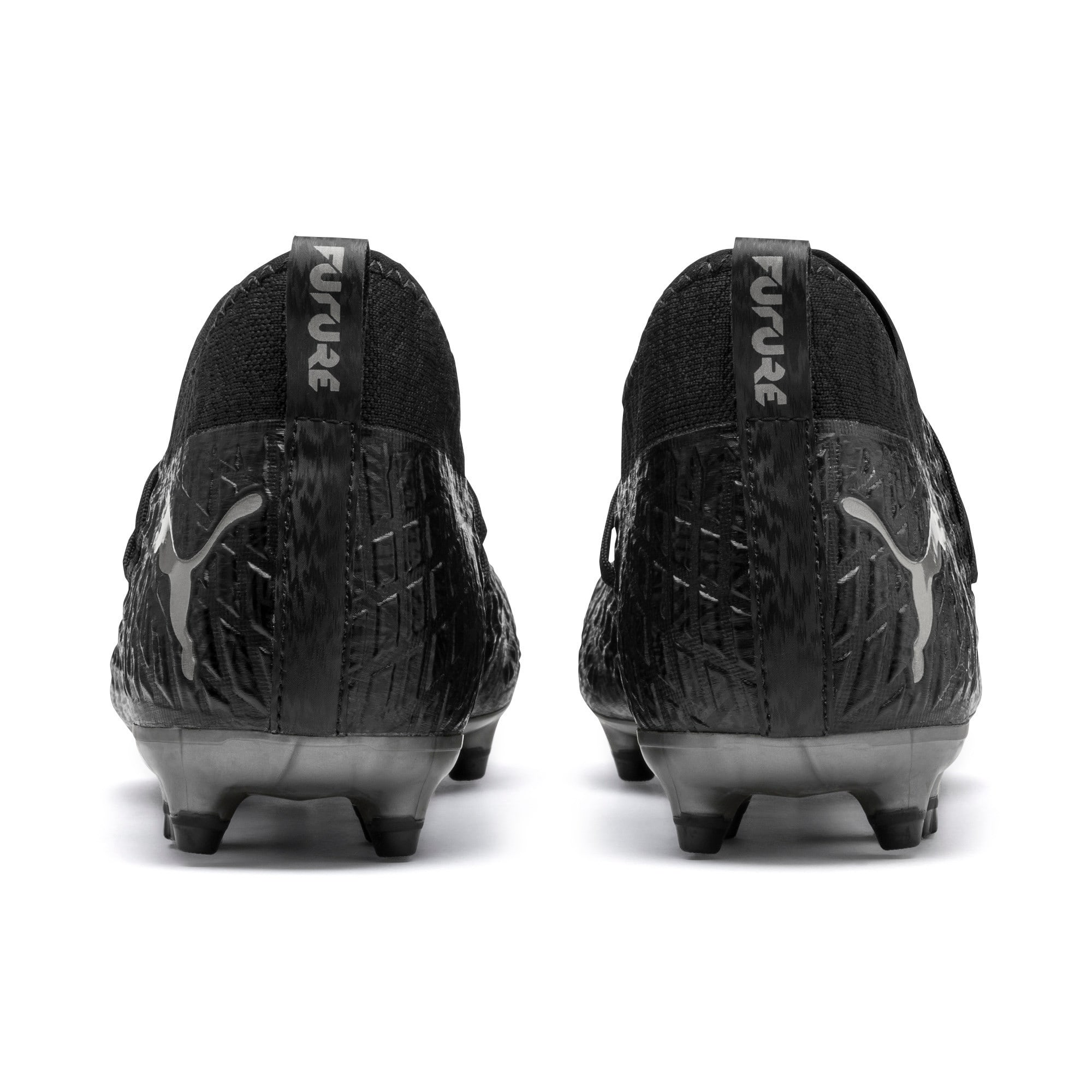 Thumbnail 4 of FUTURE 4.3 NETFIT FG/AG Men's Soccer Cleats, Black-Black-Puma Aged Silver, medium