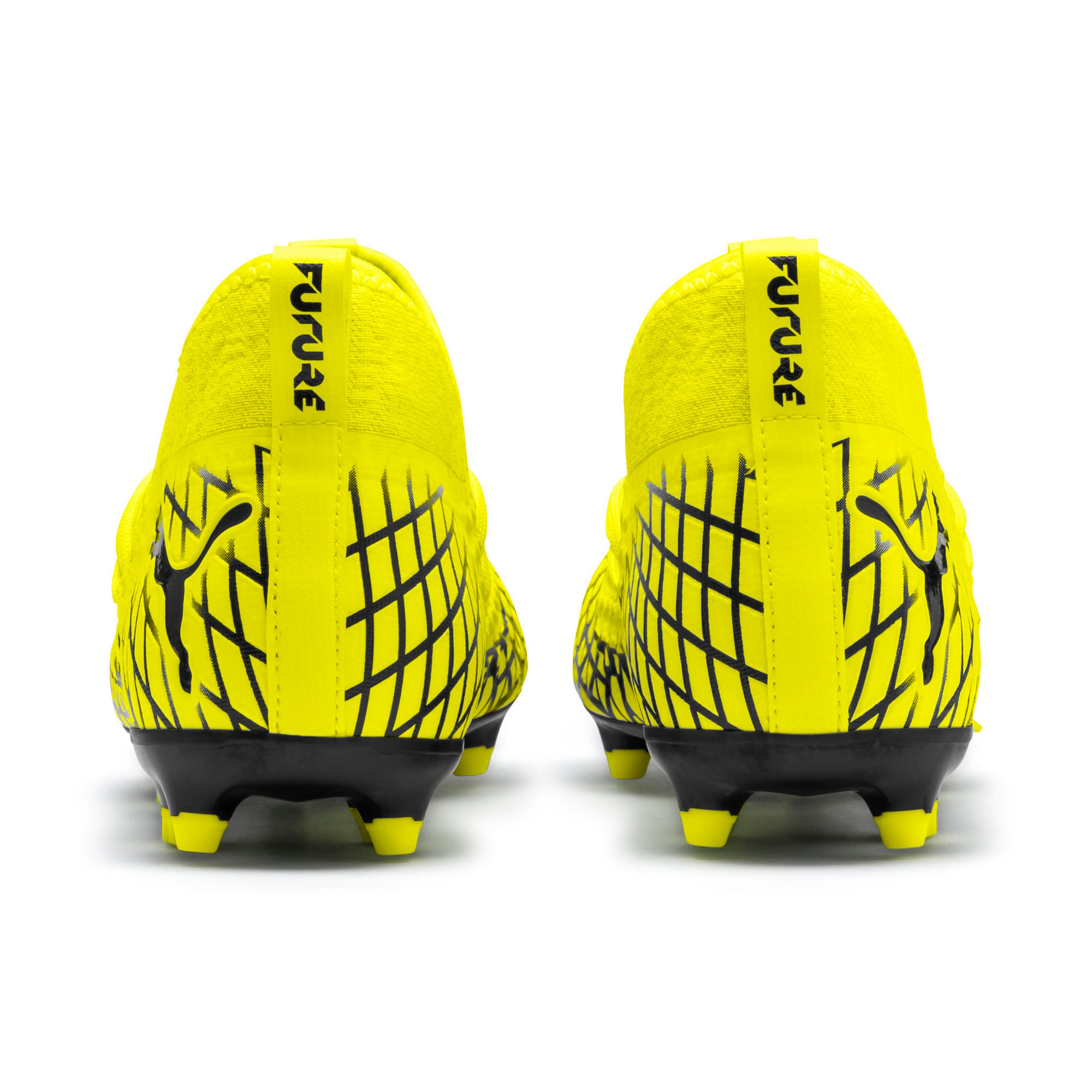 Thumbnail 4 of FUTURE 4.3 NETFIT FG/AG Men's Soccer Cleats, Yellow Alert-Puma Black, medium