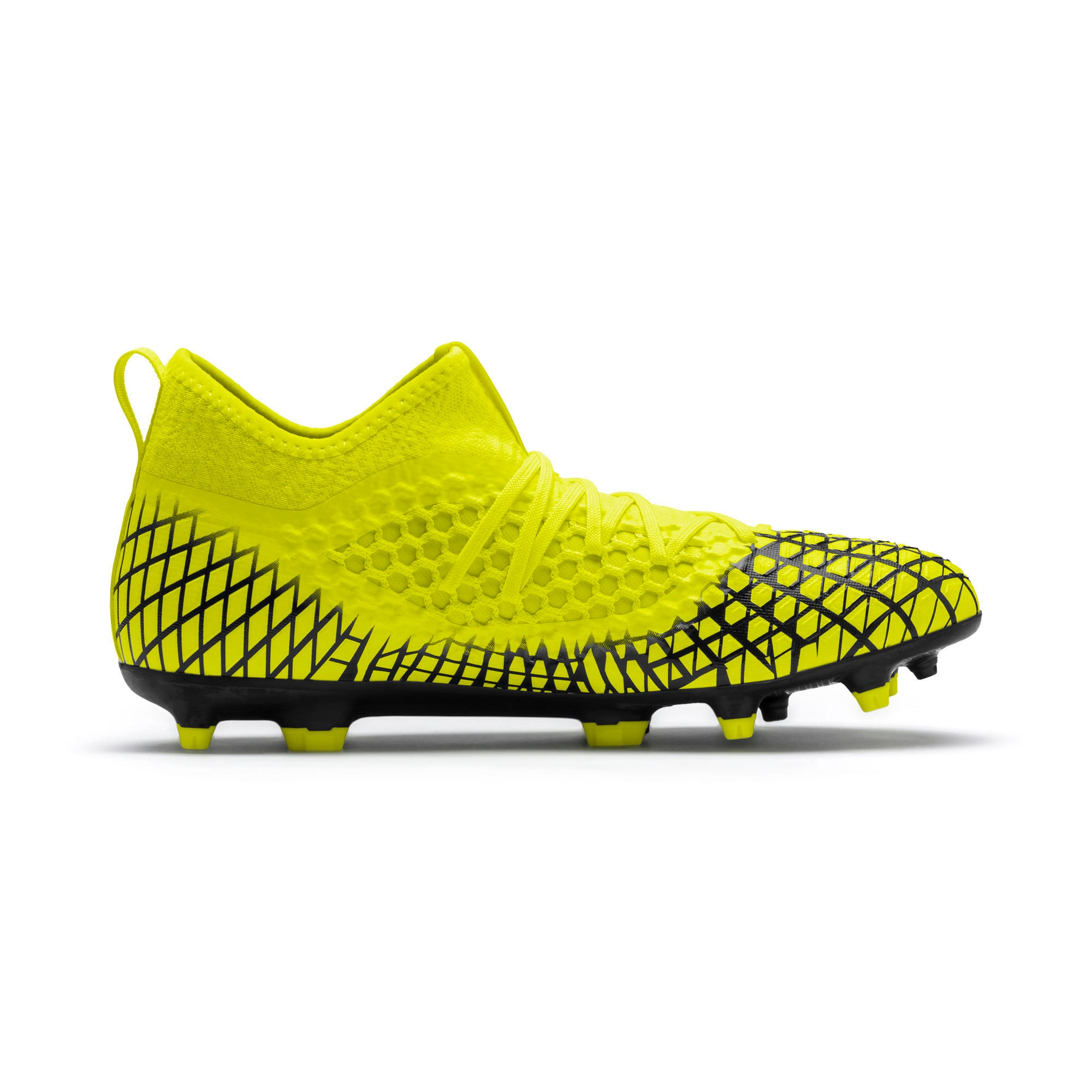 Thumbnail 6 of FUTURE 4.3 NETFIT FG/AG Men's Soccer Cleats, Yellow Alert-Puma Black, medium