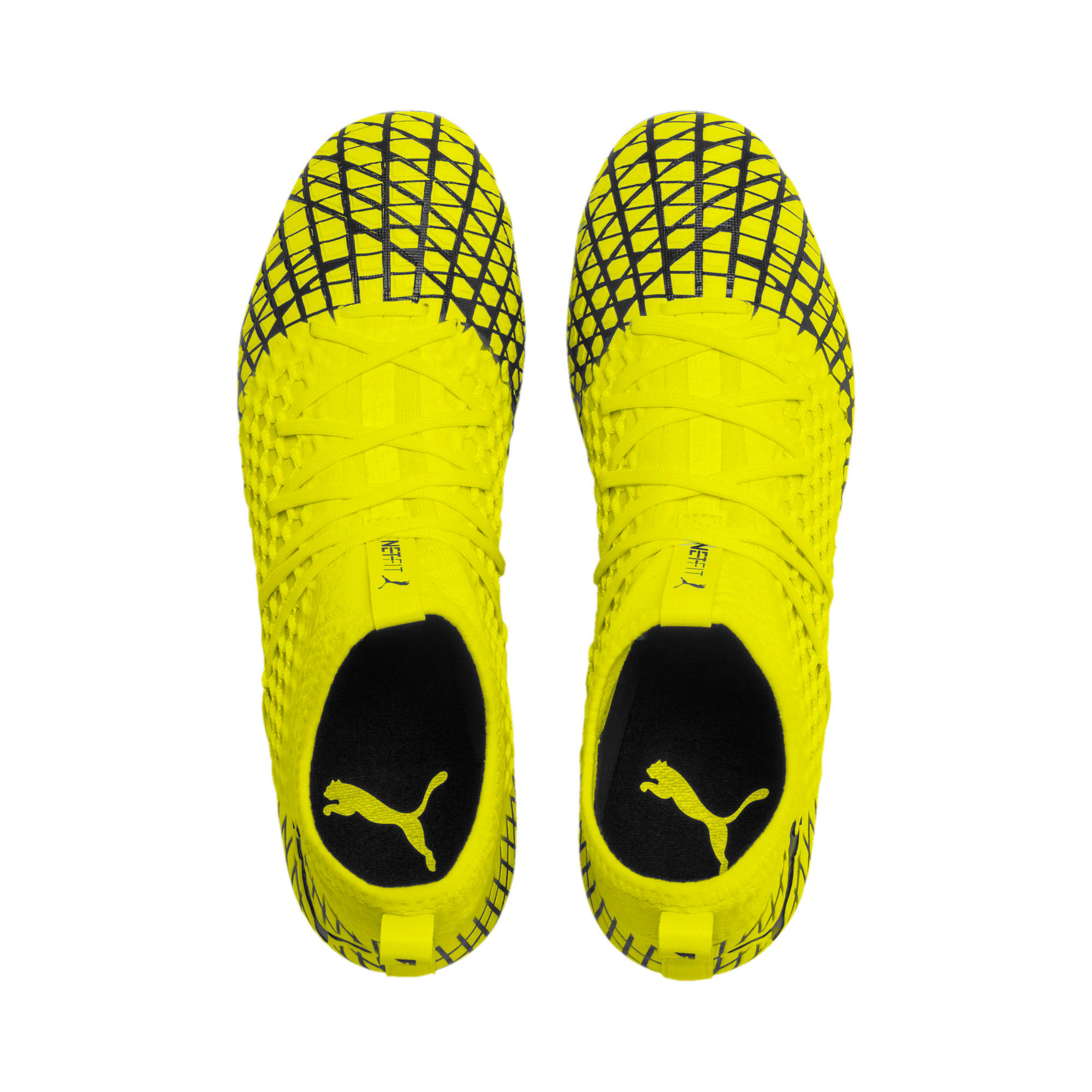 Thumbnail 7 of FUTURE 4.3 NETFIT FG/AG Men's Soccer Cleats, Yellow Alert-Puma Black, medium