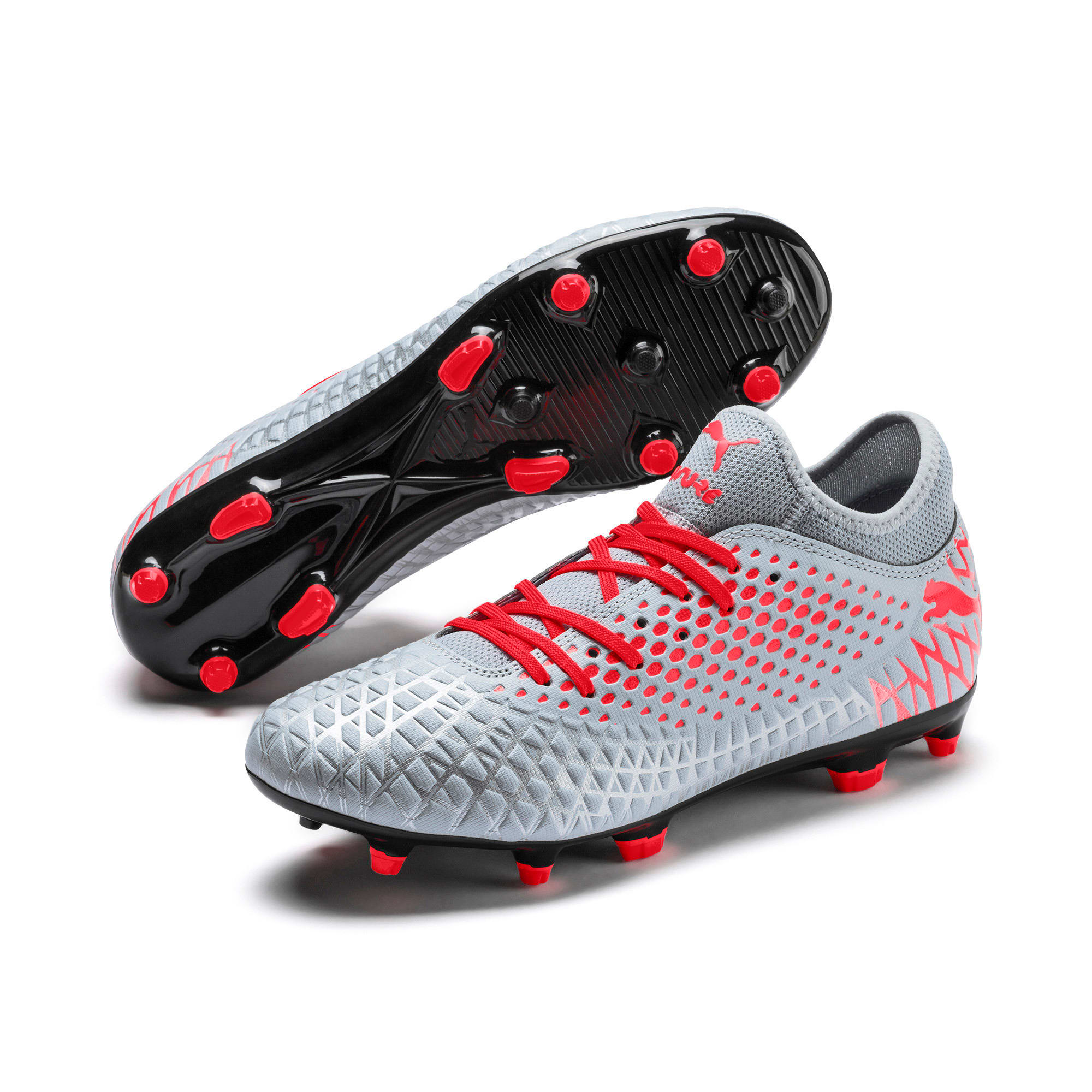 Thumbnail 3 of FUTURE 4.4 FG/AG Men's Football Boots, Glacial Blue-Nrgy Red, medium