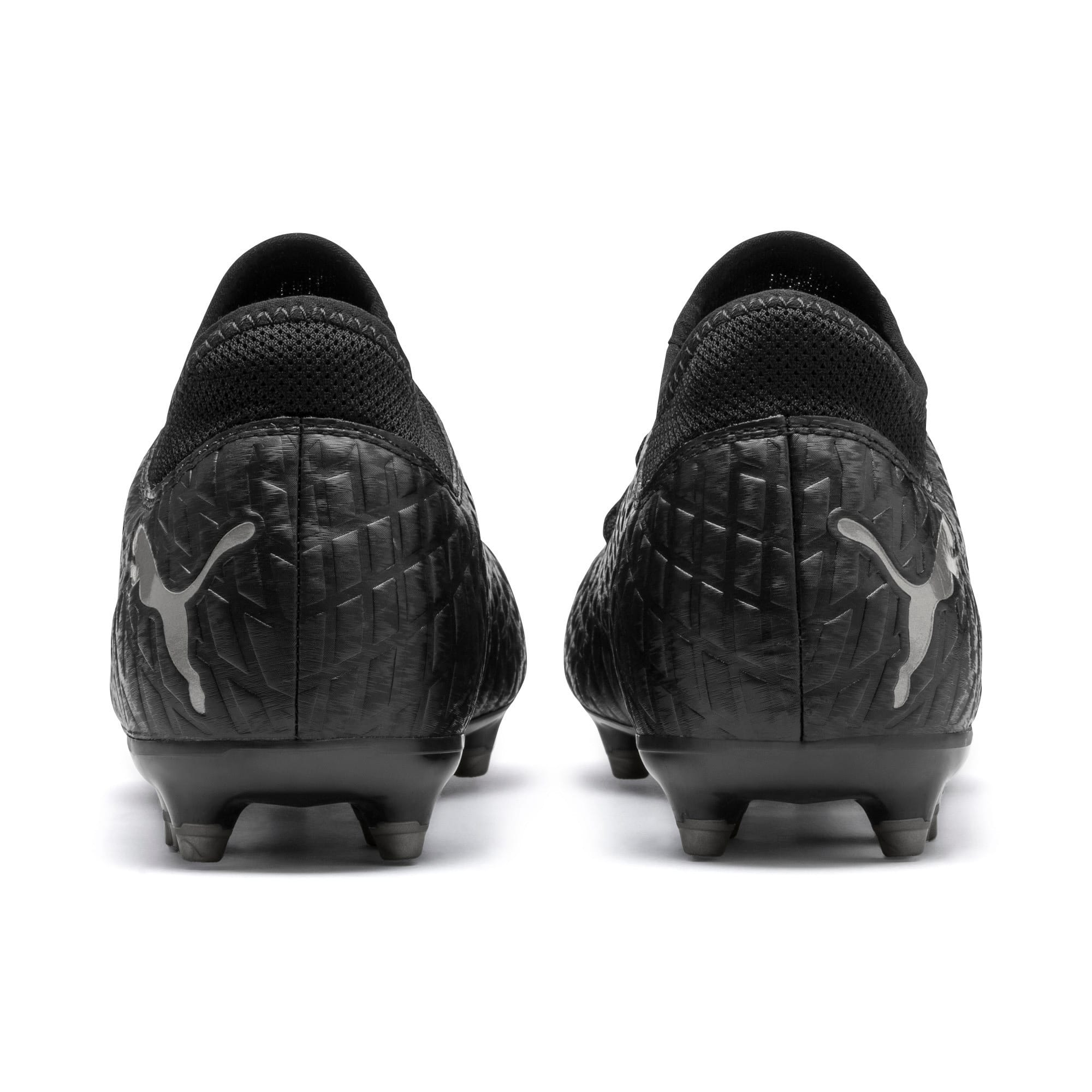 Thumbnail 4 of FUTURE 4.4 FG/AG Men's Football Boots, Black-Black-Puma Aged Silver, medium