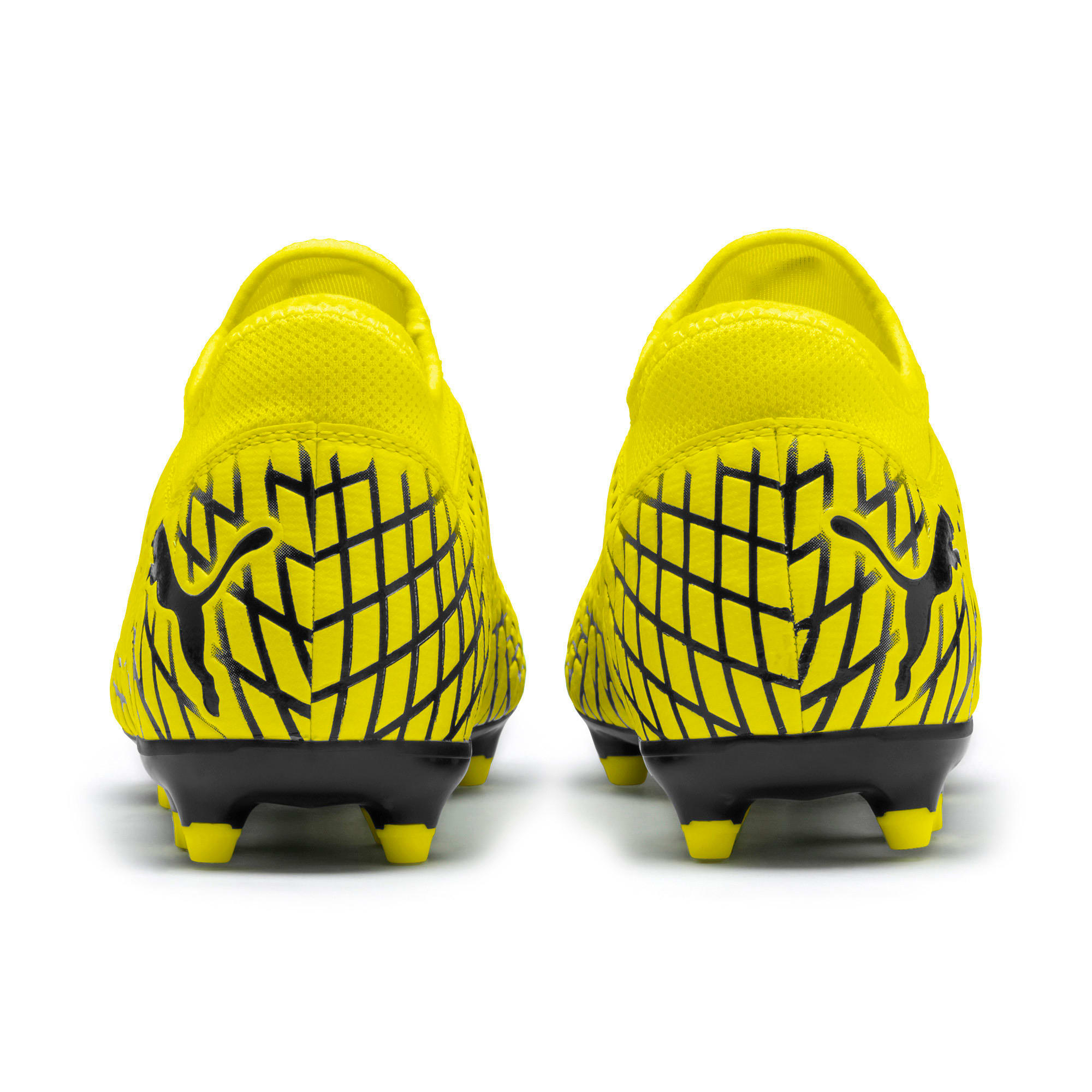 Thumbnail 4 of FUTURE 4.4 FG/AG Men's Football Boots, Yellow Alert-Puma Black, medium
