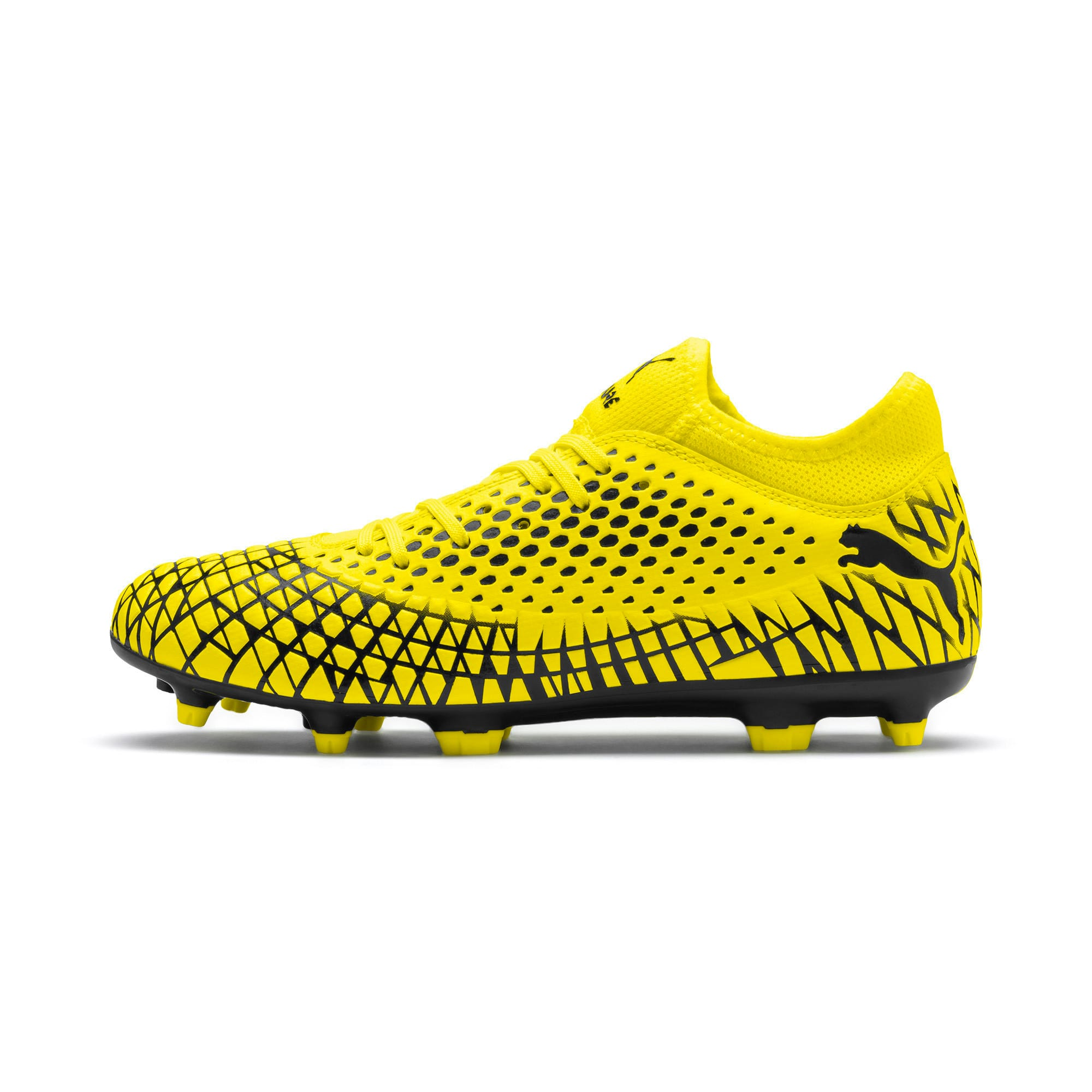 Thumbnail 1 of FUTURE 4.4 FG/AG Men's Football Boots, Yellow Alert-Puma Black, medium