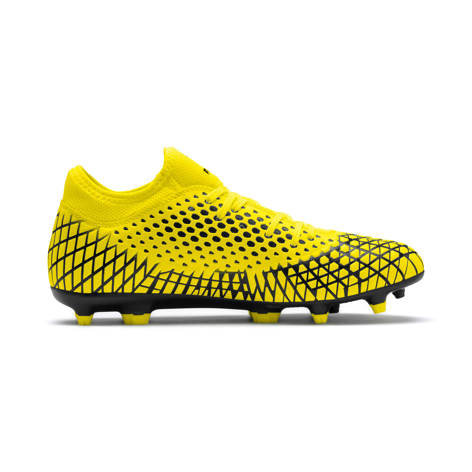 Thumbnail 6 of FUTURE 4.4 FG/AG Men's Football Boots, Yellow Alert-Puma Black, medium