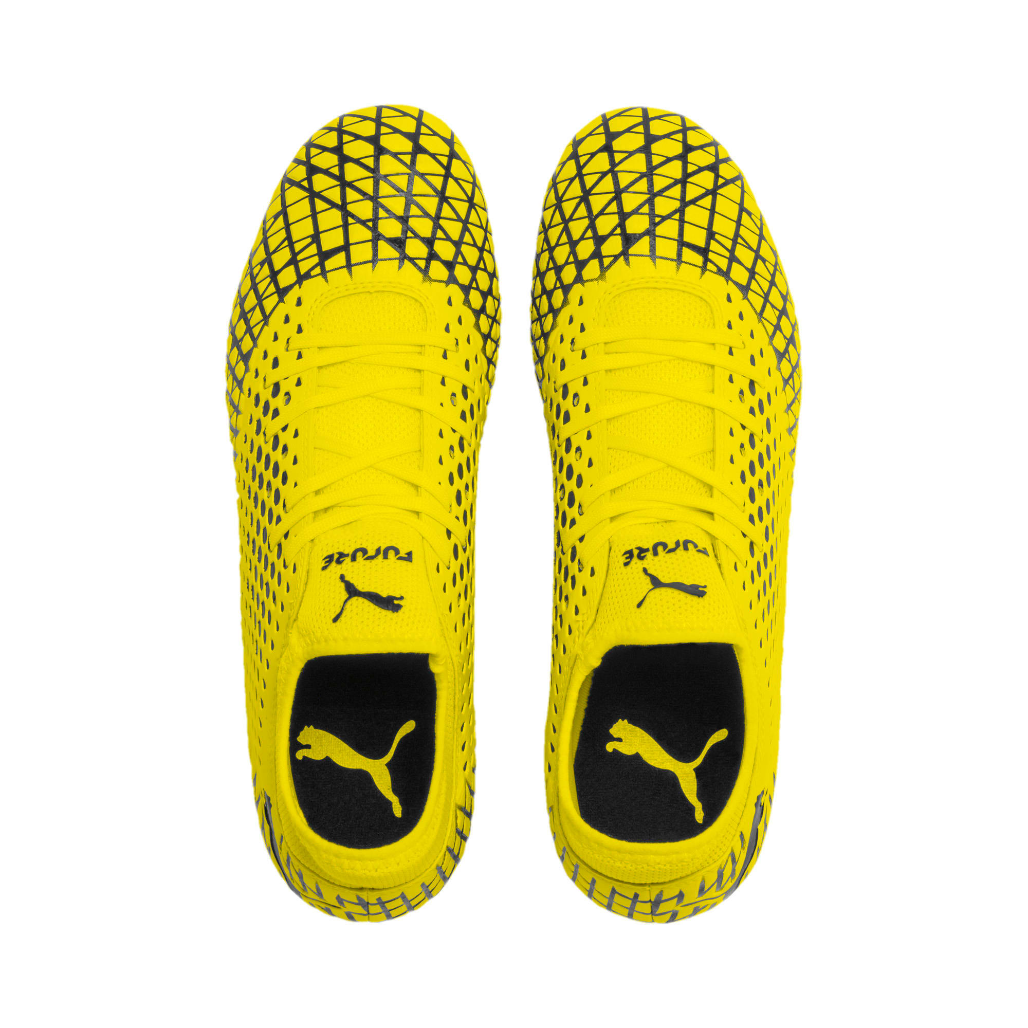 Thumbnail 7 of FUTURE 4.4 FG/AG Men's Football Boots, Yellow Alert-Puma Black, medium