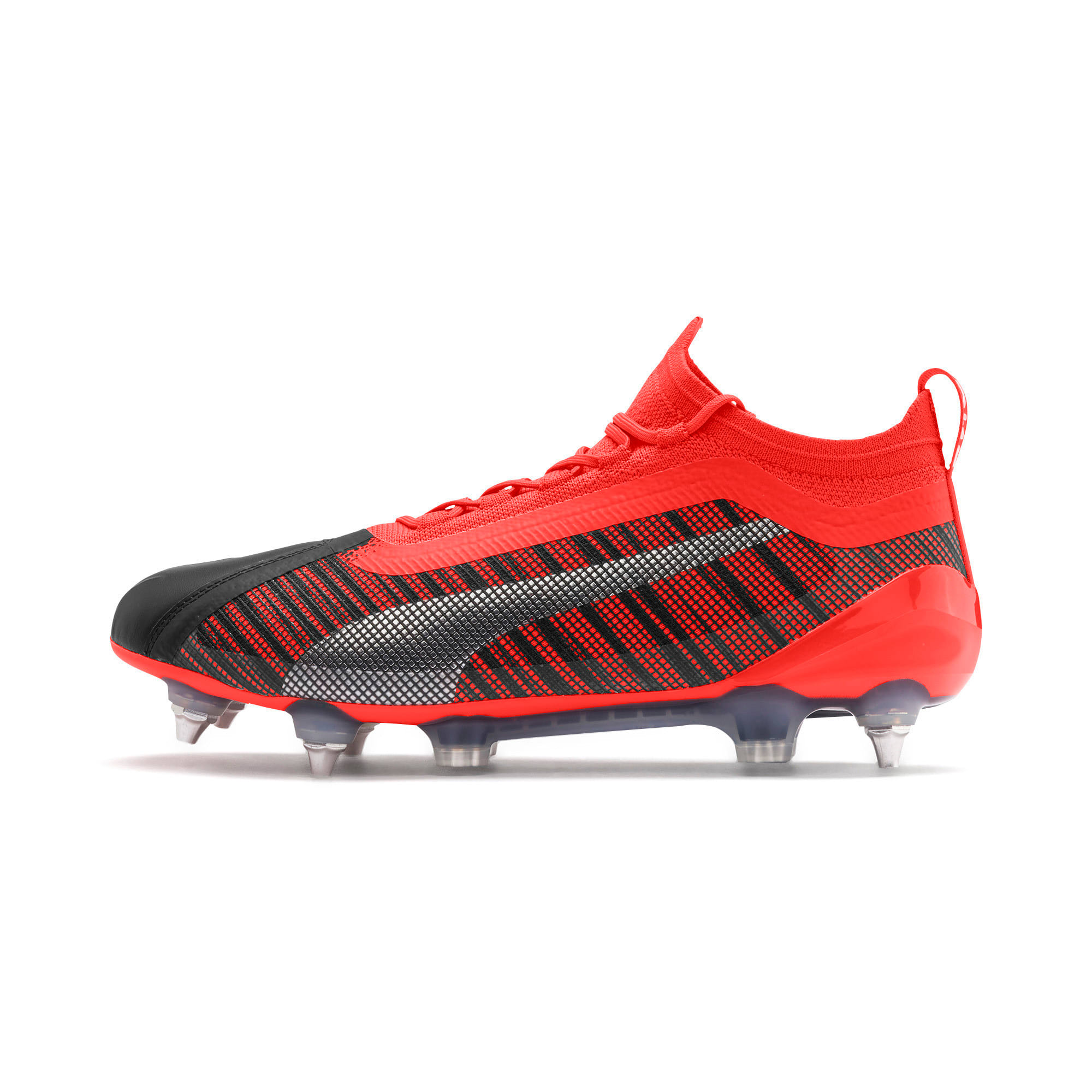 Thumbnail 1 of PUMA ONE 5.1 MxSG voetbalschoenen, Black-Nrgy Red-Aged Silver, medium