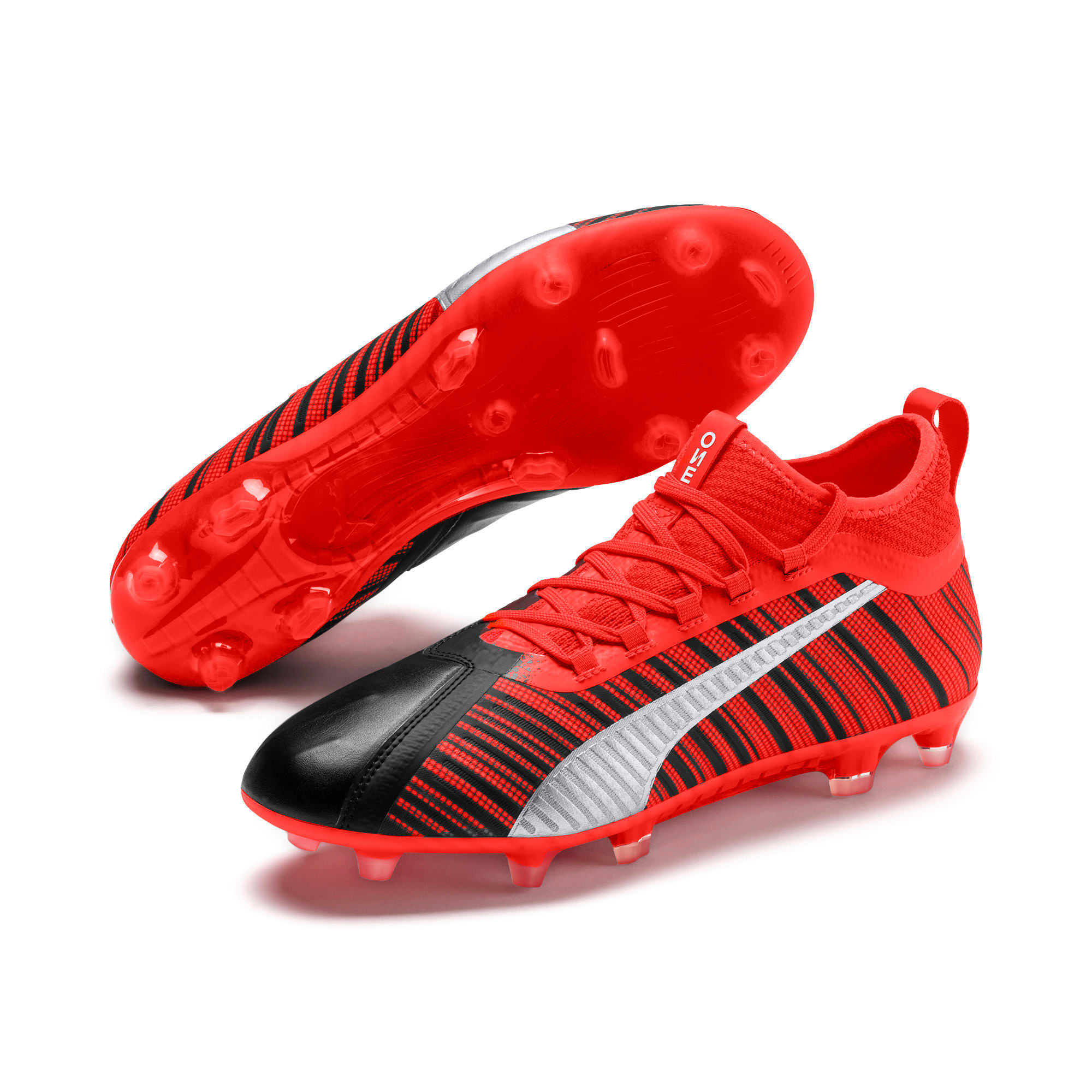 Thumbnail 3 of PUMA ONE 5.2 FG/AG Herren Fußballschuhe, Black-Nrgy Red-Aged Silver, medium