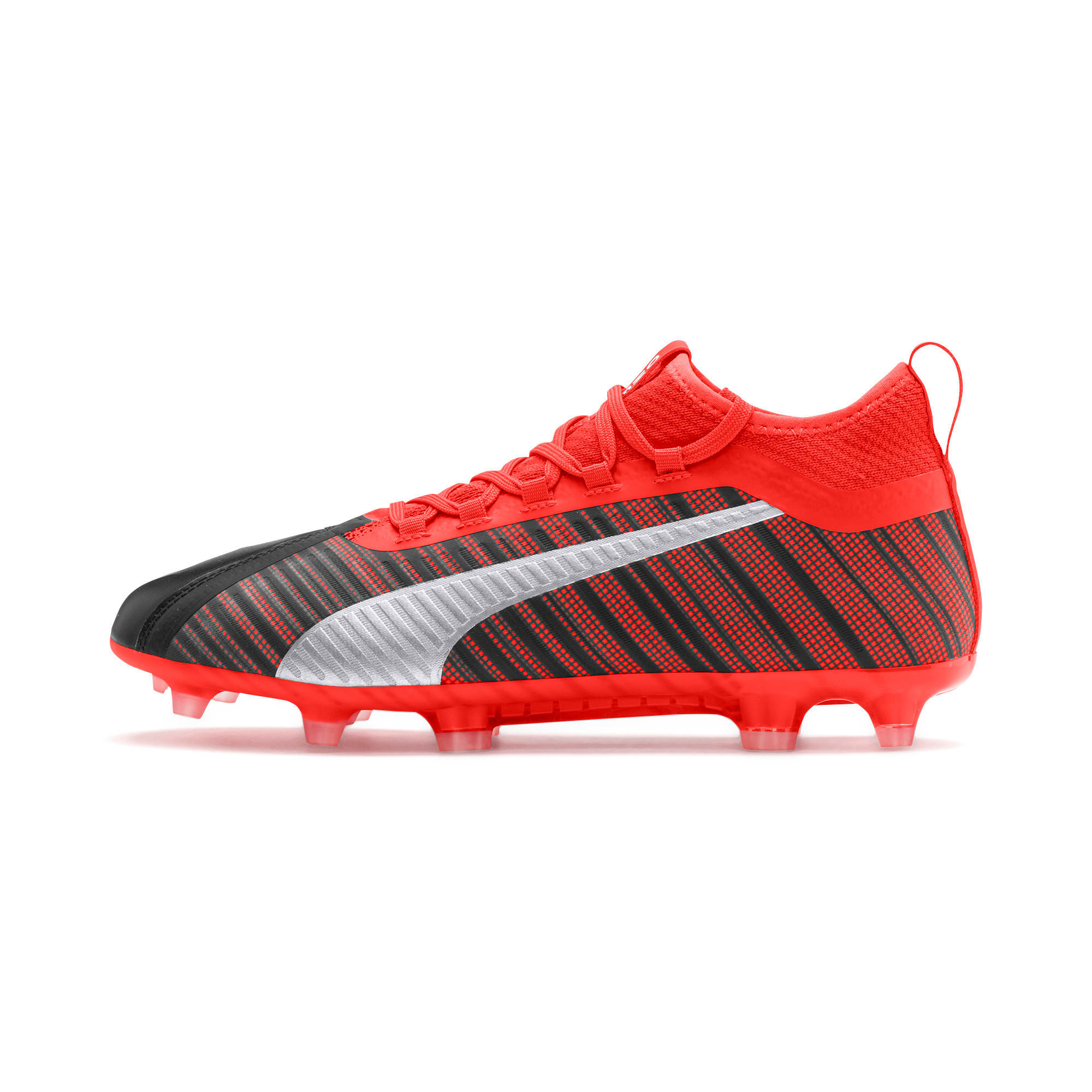 Thumbnail 1 of PUMA ONE 5.2 FG/AG Herren Fußballschuhe, Black-Nrgy Red-Aged Silver, medium