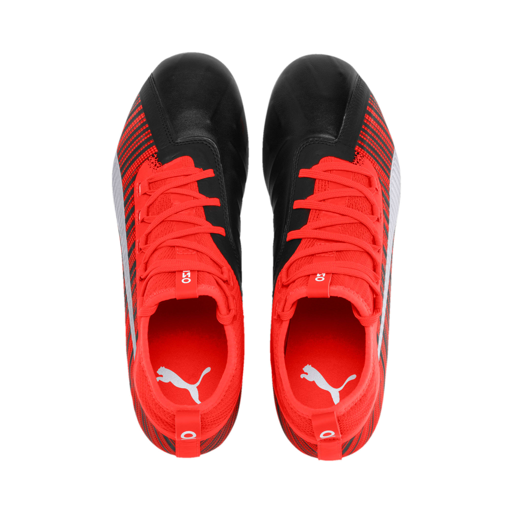 Thumbnail 7 of PUMA ONE 5.2 FG/AG Herren Fußballschuhe, Black-Nrgy Red-Aged Silver, medium