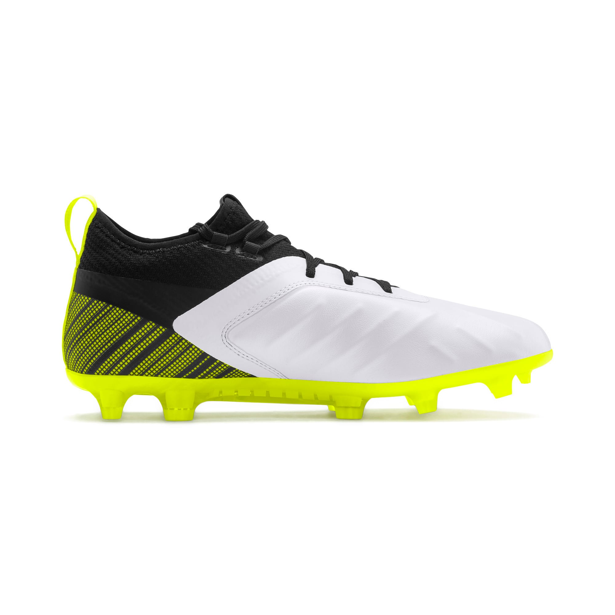 Thumbnail 6 of PUMA ONE 5.2 Men's Football Boots, White-Black-Yellow Alert, medium