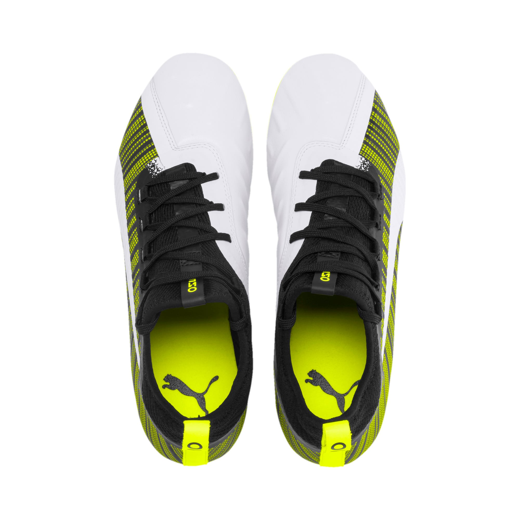 Thumbnail 7 of PUMA ONE 5.2 Men's Football Boots, White-Black-Yellow Alert, medium