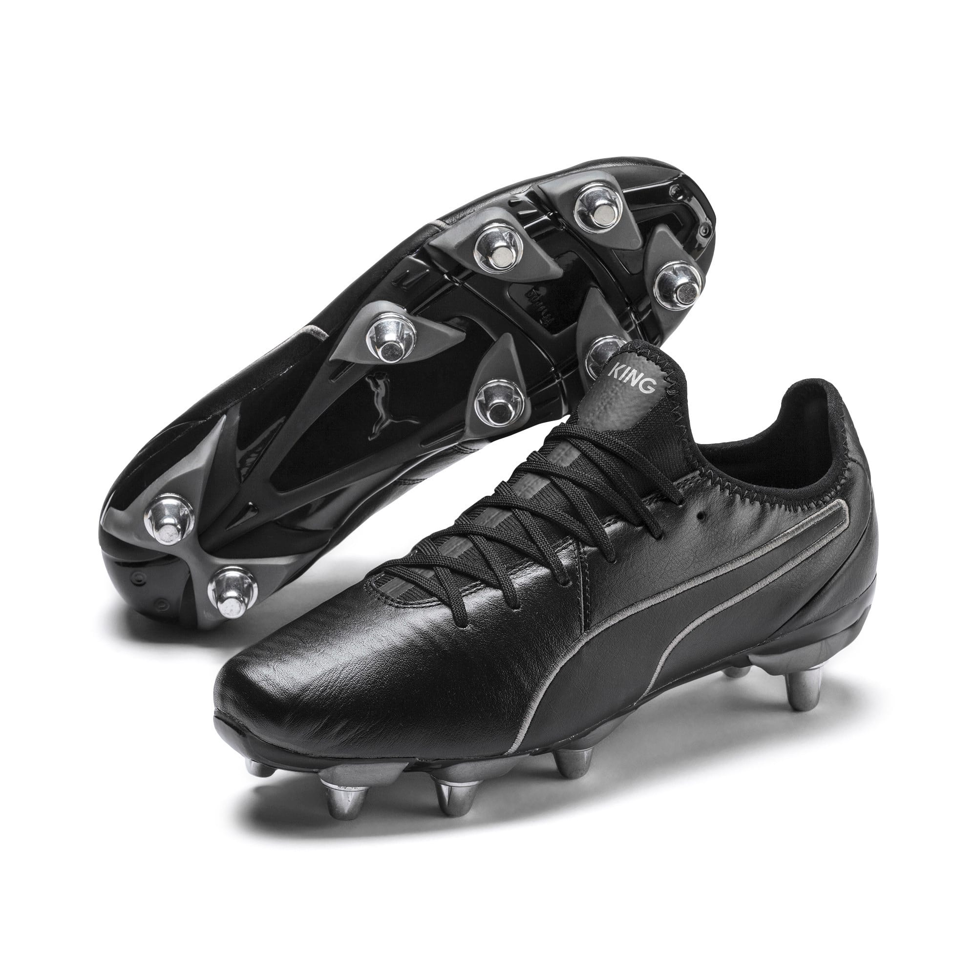 Thumbnail 2 of KING Pro H8 Men's Rugby Boots, Puma Black-Puma Aged Silver, medium