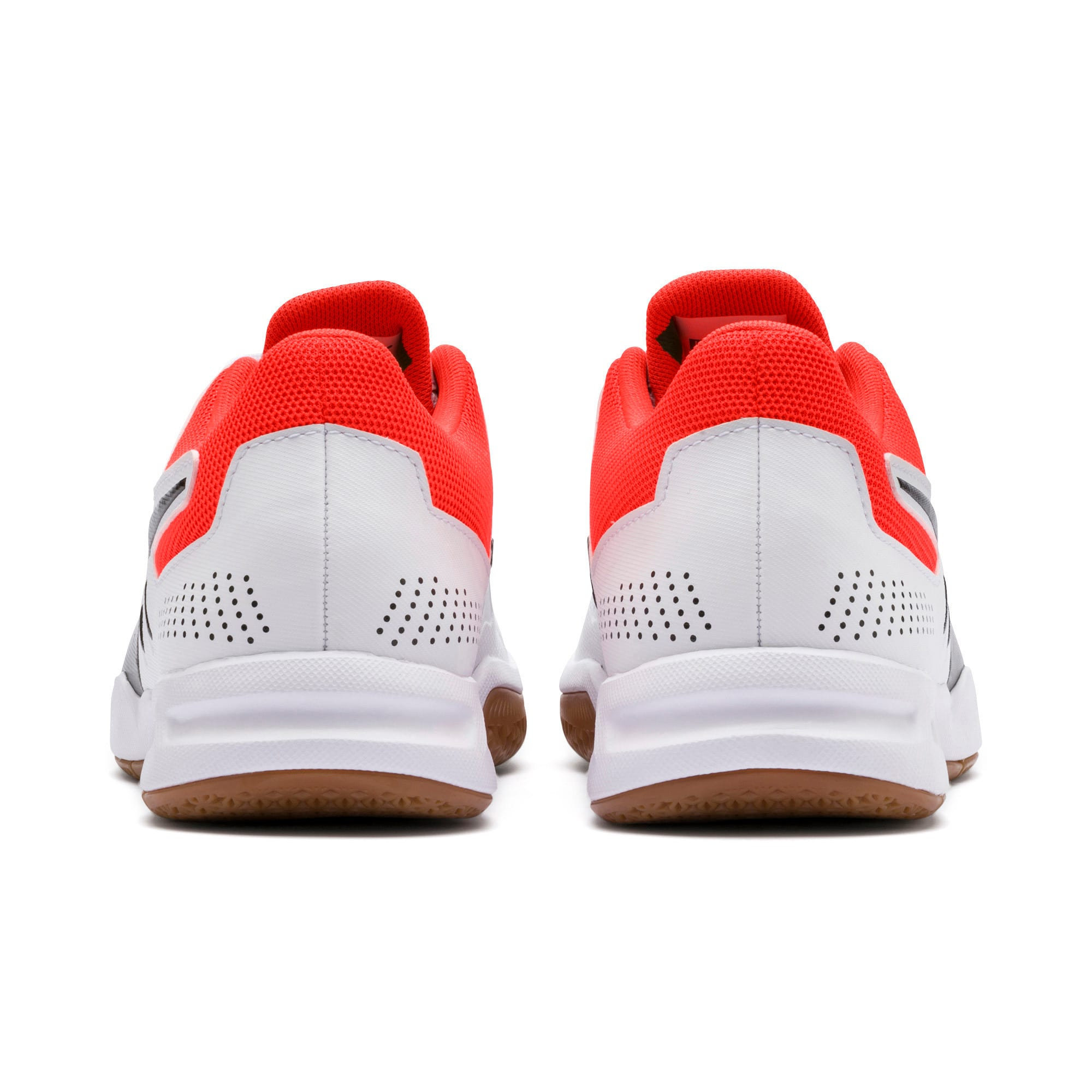 Thumbnail 3 of Auriz Youth Trainers, White-Black-Nrgy Red-Gum, medium