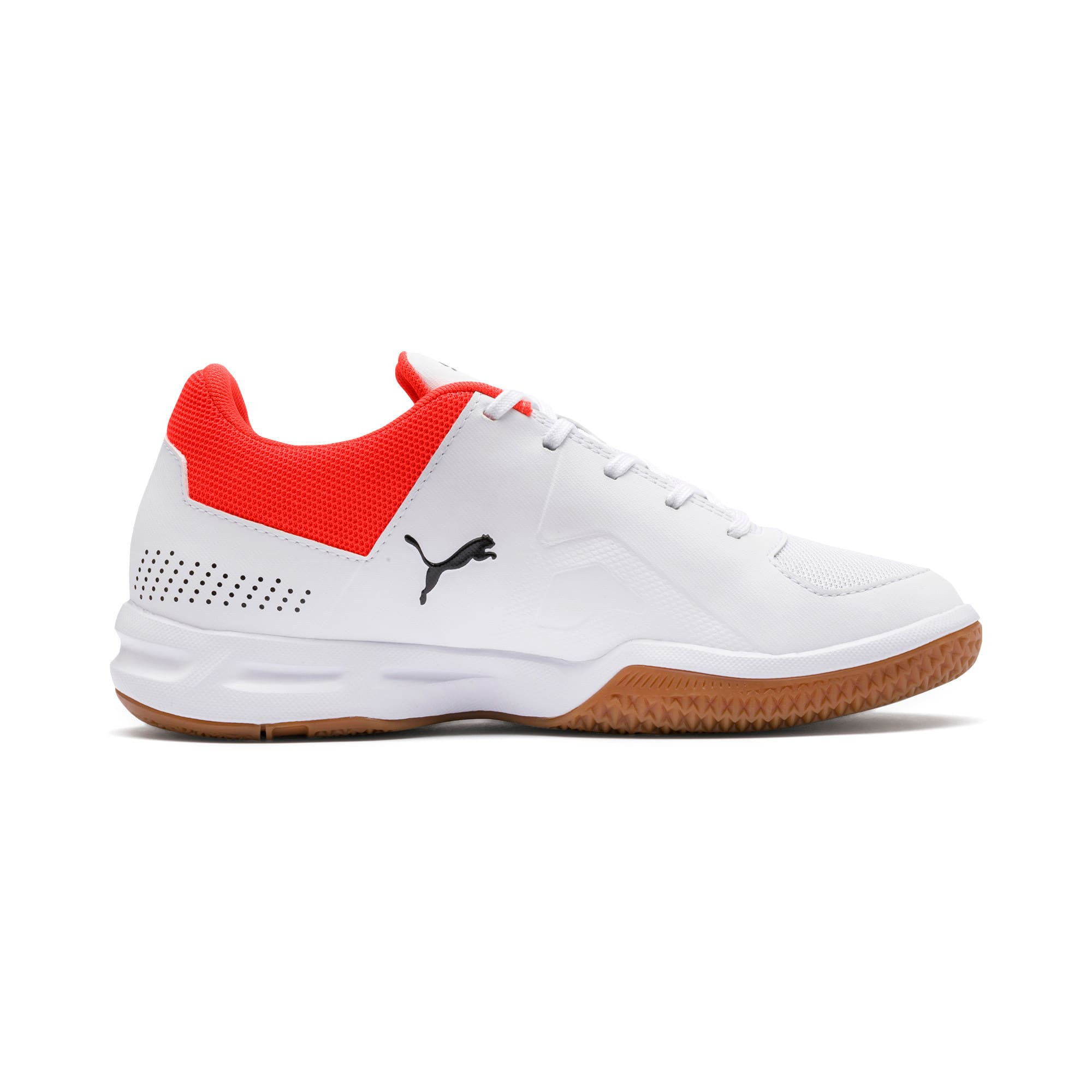 Thumbnail 5 of Auriz Youth Trainers, White-Black-Nrgy Red-Gum, medium