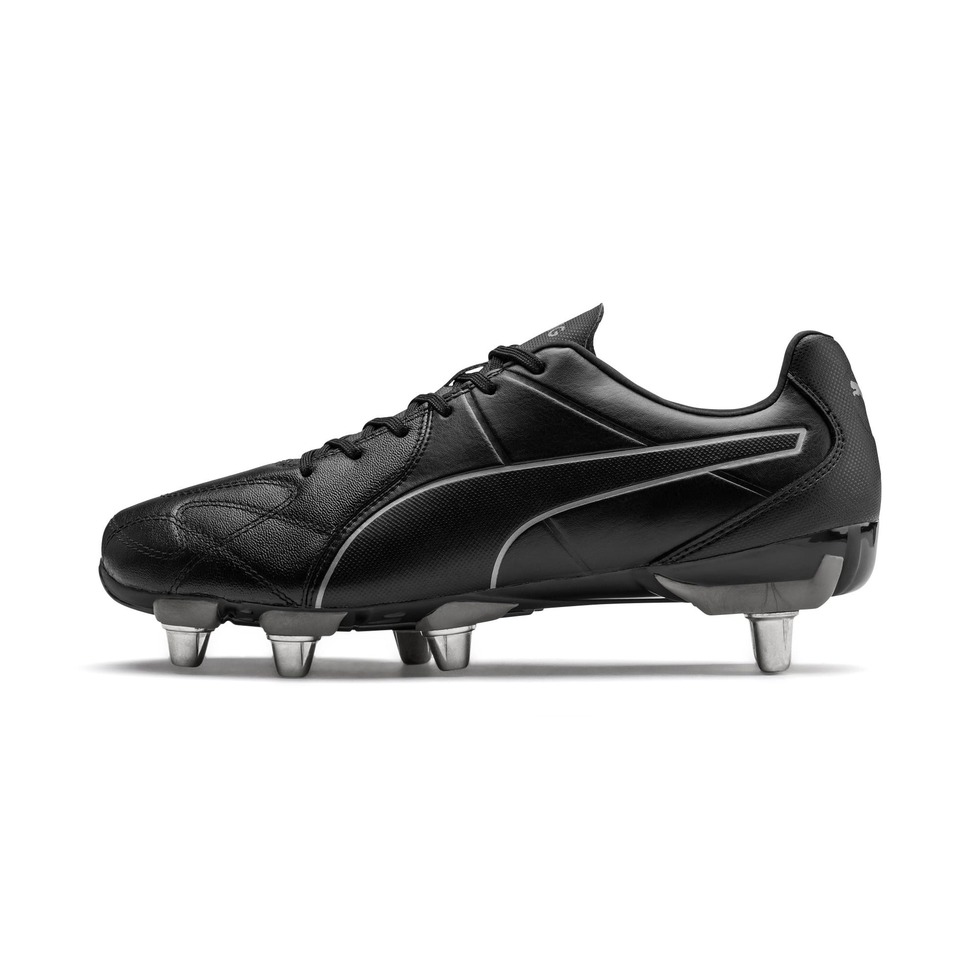 Thumbnail 1 of KING Hero H8 Men's Rugby Boots, Puma Black-Puma Aged Silver, medium