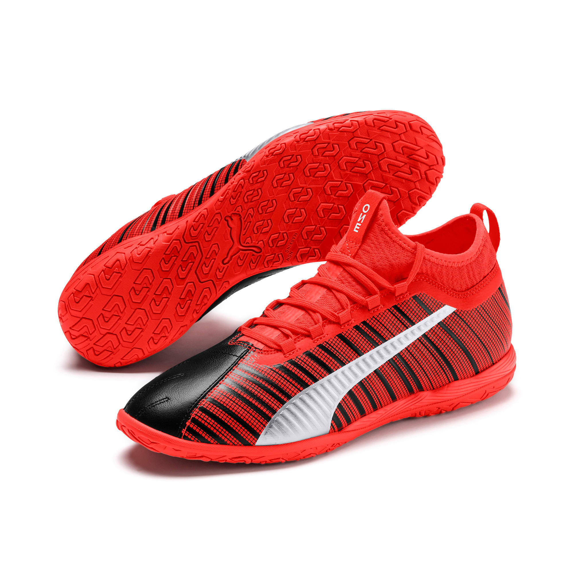 Thumbnail 3 of PUMA ONE 5.3 IT Soccer Shoes, Black-Nrgy Red-Aged Silver, medium