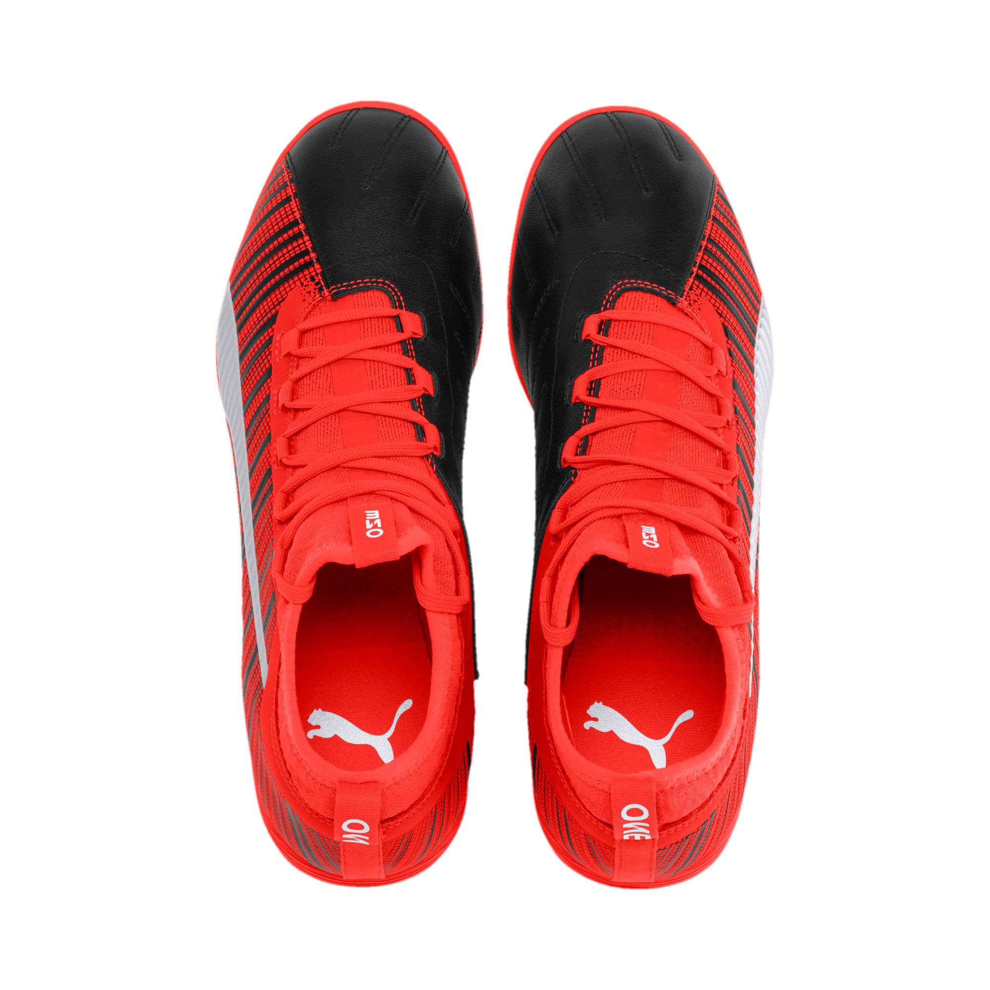 Thumbnail 7 of PUMA ONE 5.3 IT Soccer Shoes, Black-Nrgy Red-Aged Silver, medium