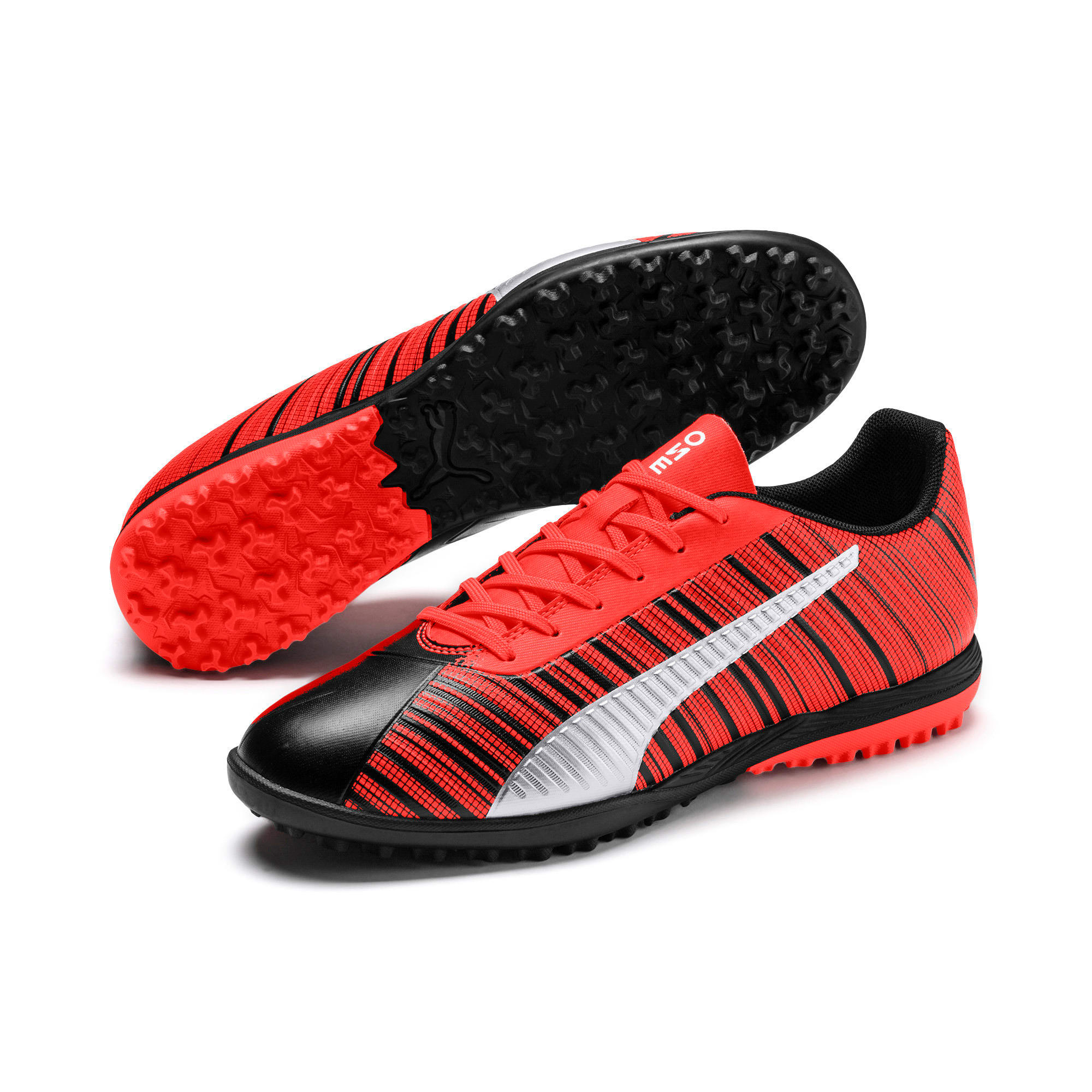 Thumbnail 3 of PUMA ONE 5.4 TT Herren Fußballschuhe, Black-Nrgy Red-Aged Silver, medium