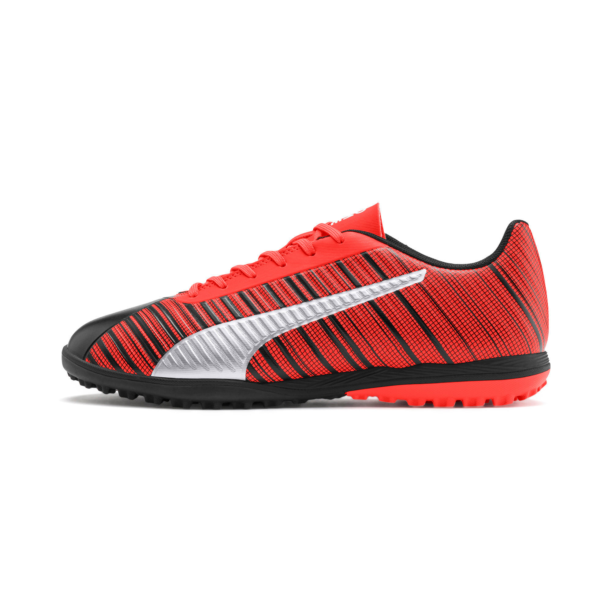 Thumbnail 1 of PUMA ONE 5.4 TT Herren Fußballschuhe, Black-Nrgy Red-Aged Silver, medium