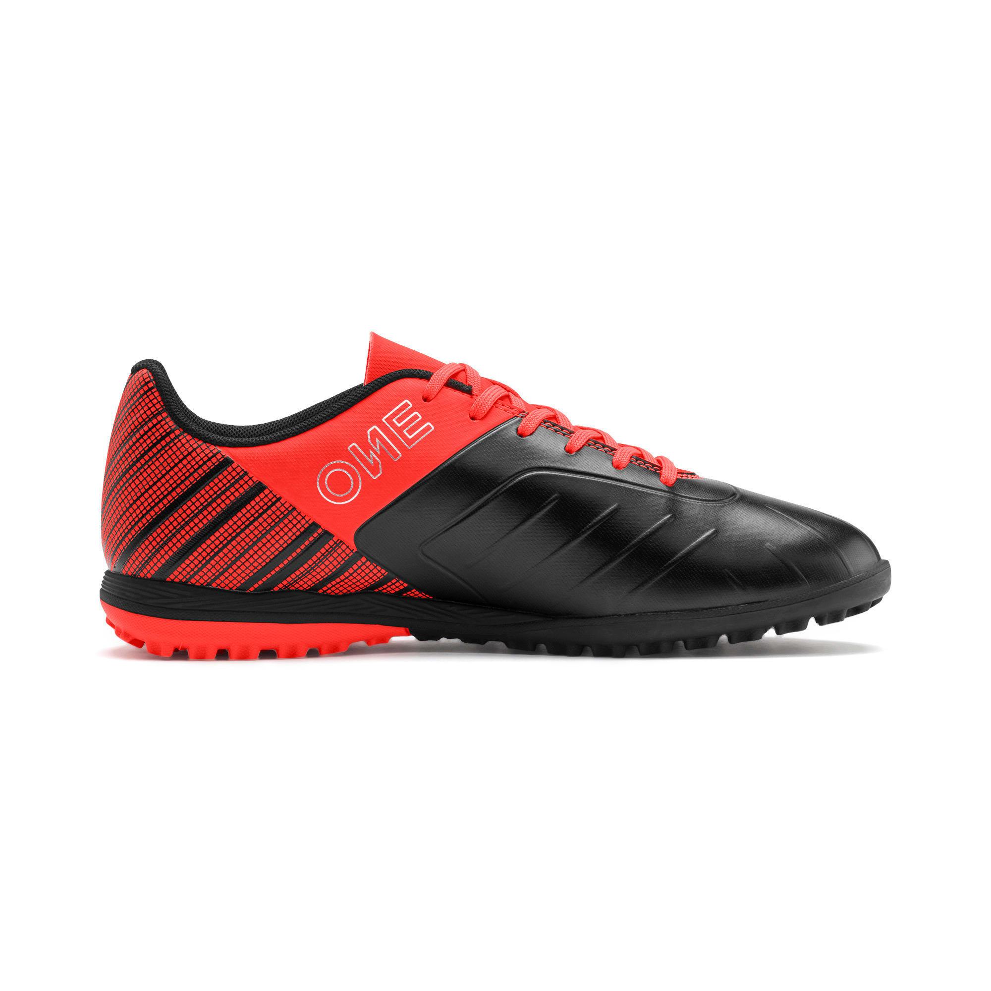 Thumbnail 6 of PUMA ONE 5.4 TT Men's Soccer Shoes, Black-Nrgy Red-Aged Silver, medium