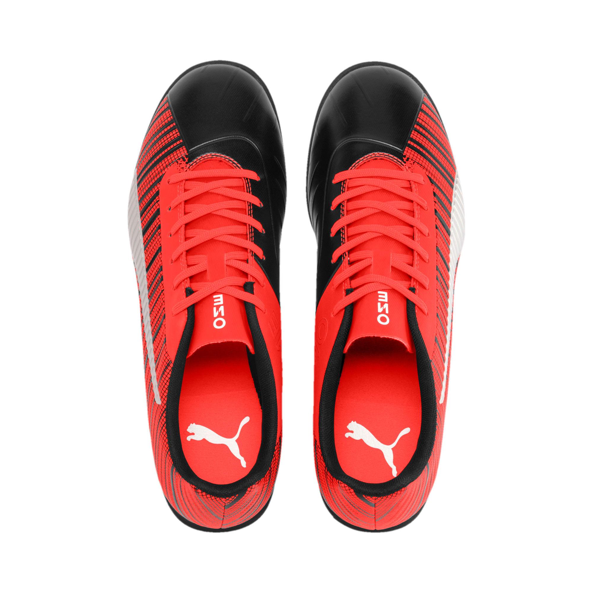 Thumbnail 7 of PUMA ONE 5.4 TT Men's Soccer Shoes, Black-Nrgy Red-Aged Silver, medium