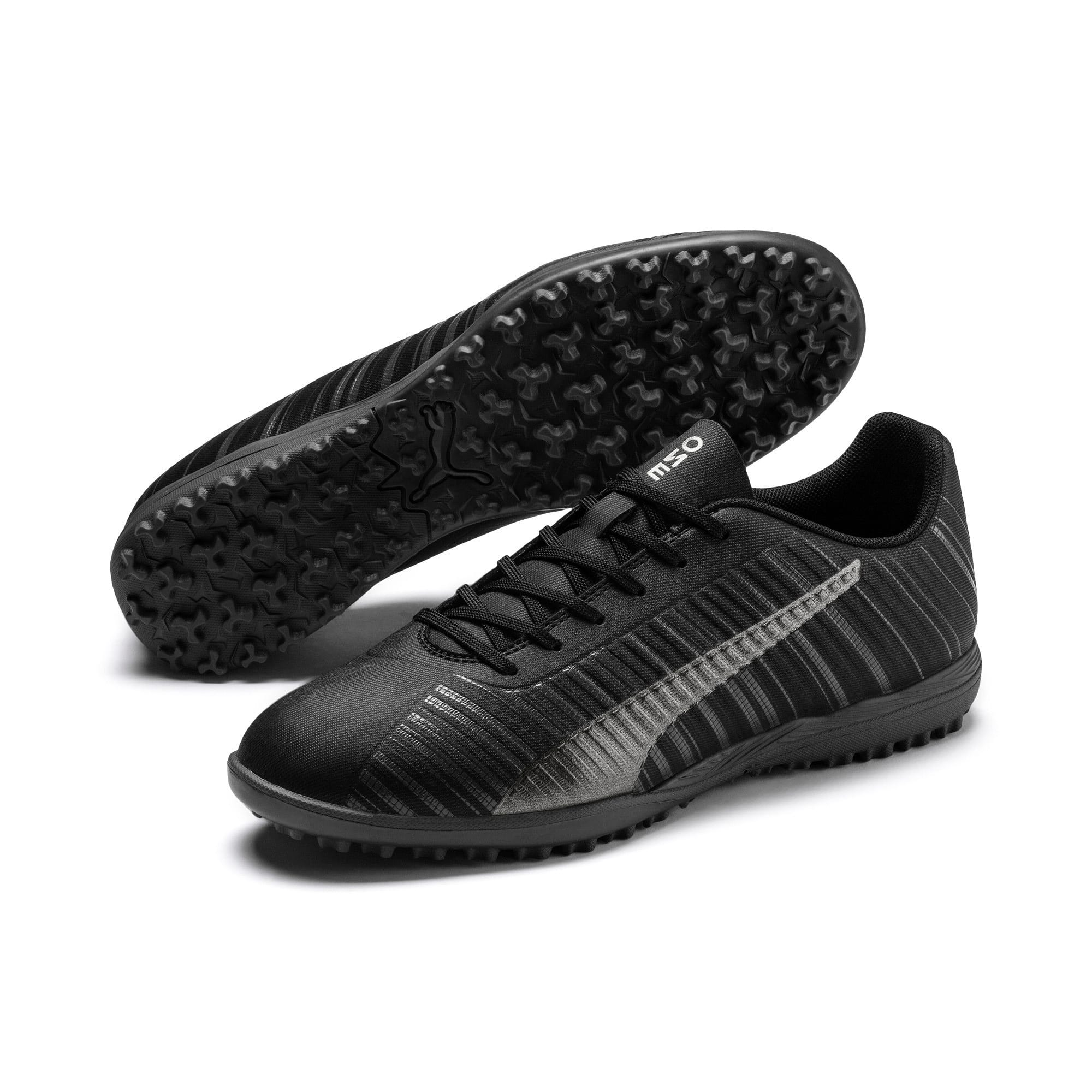 Thumbnail 3 of PUMA ONE 5.4 TT Men's Soccer Shoes, Black-Black-Puma Aged Silver, medium