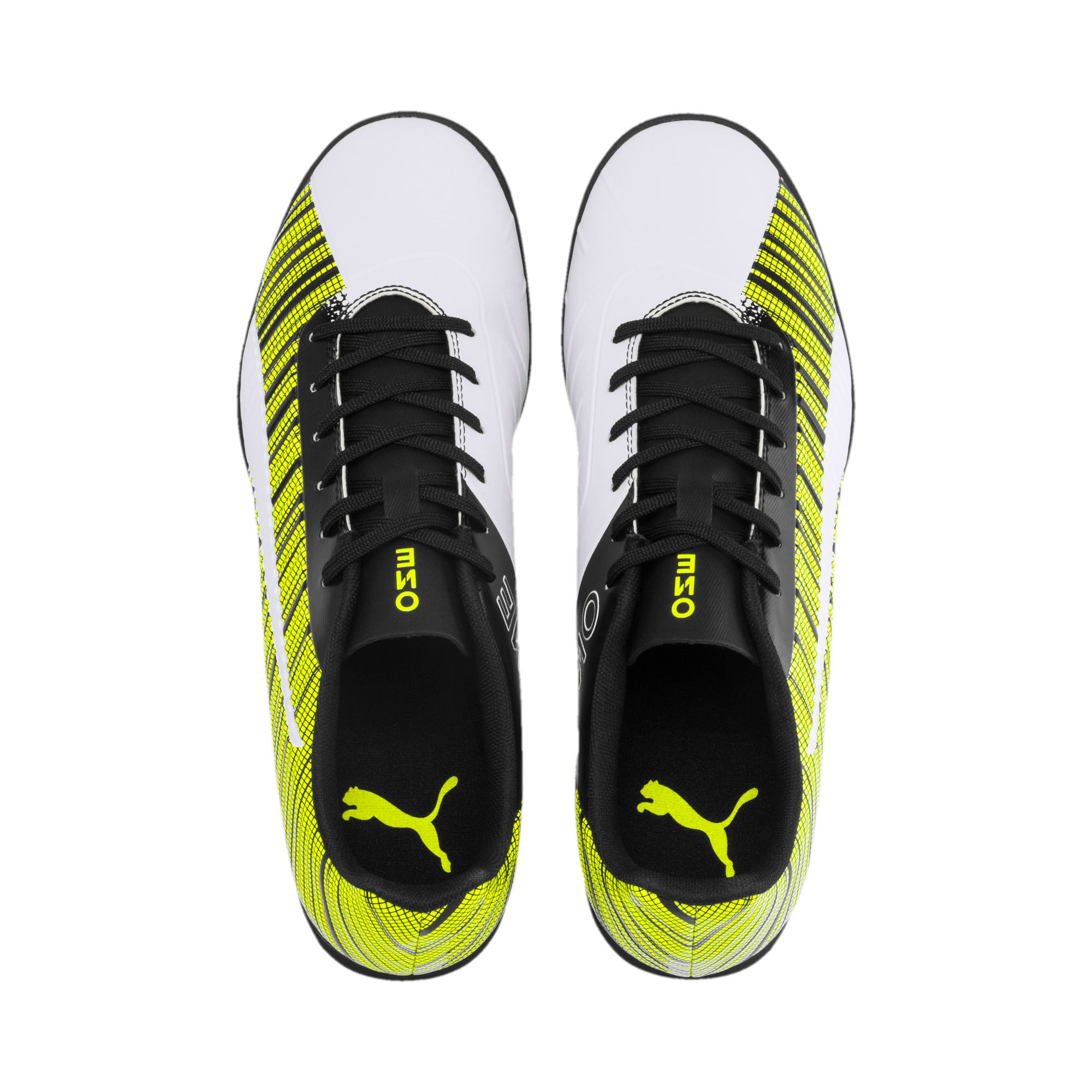Thumbnail 7 of PUMA ONE 5.4 TT Men's Football Boots, White- Black-Yellow Alert, medium
