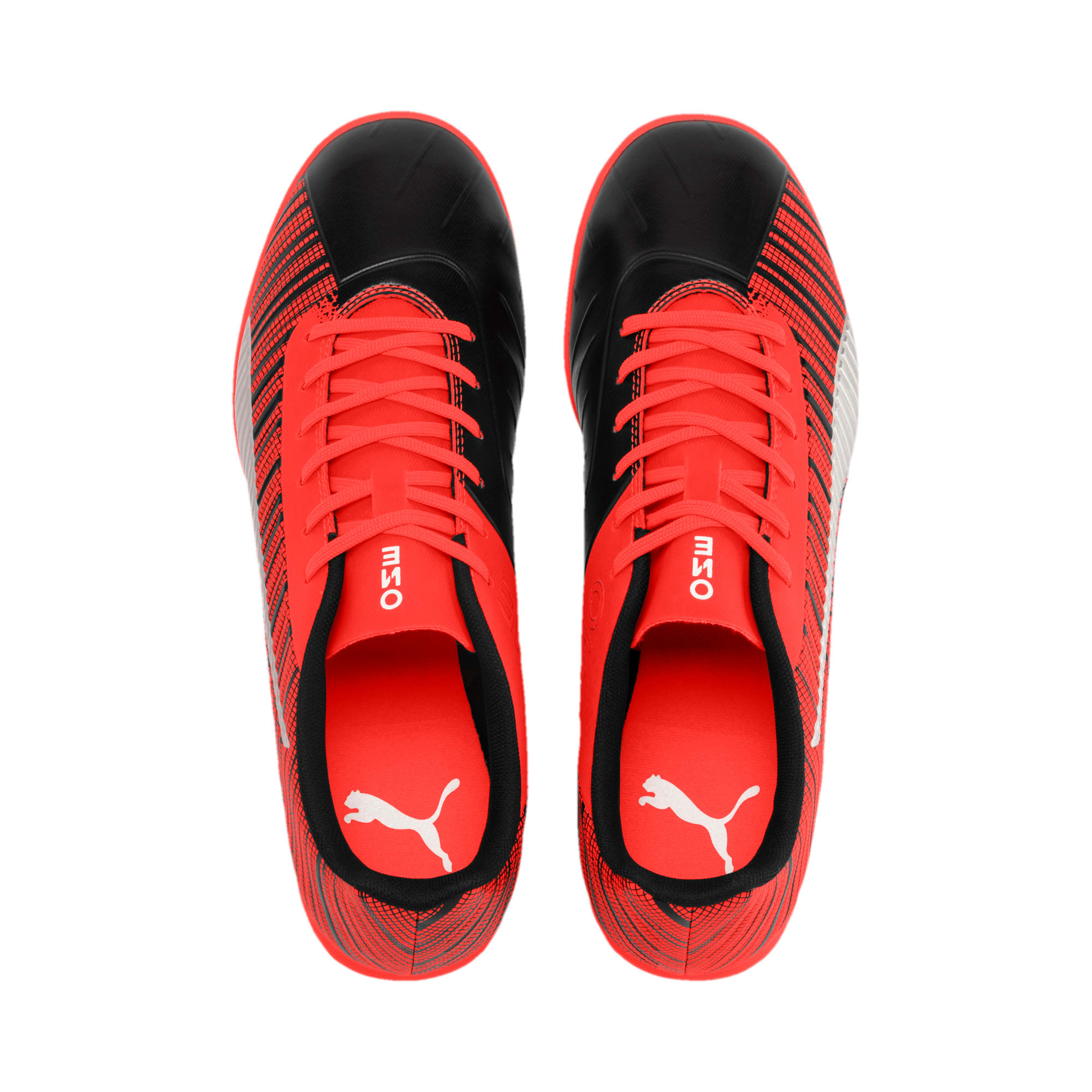 Thumbnail 7 of PUMA ONE 5.4 IT Men's Football Boots, Black-Nrgy Red-Aged Silver, medium
