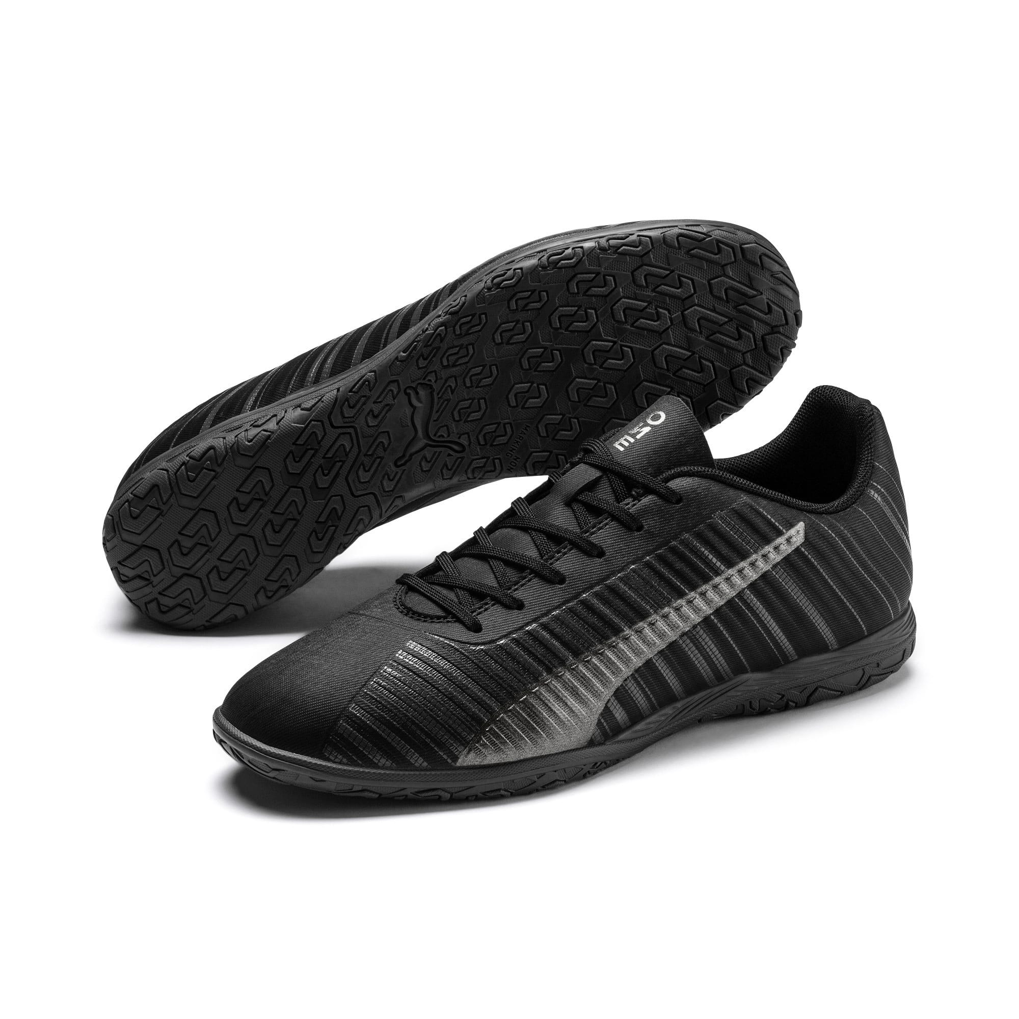 Thumbnail 3 of PUMA ONE 5.4 IT Men's Soccer Shoes, Black-Black-Puma Aged Silver, medium