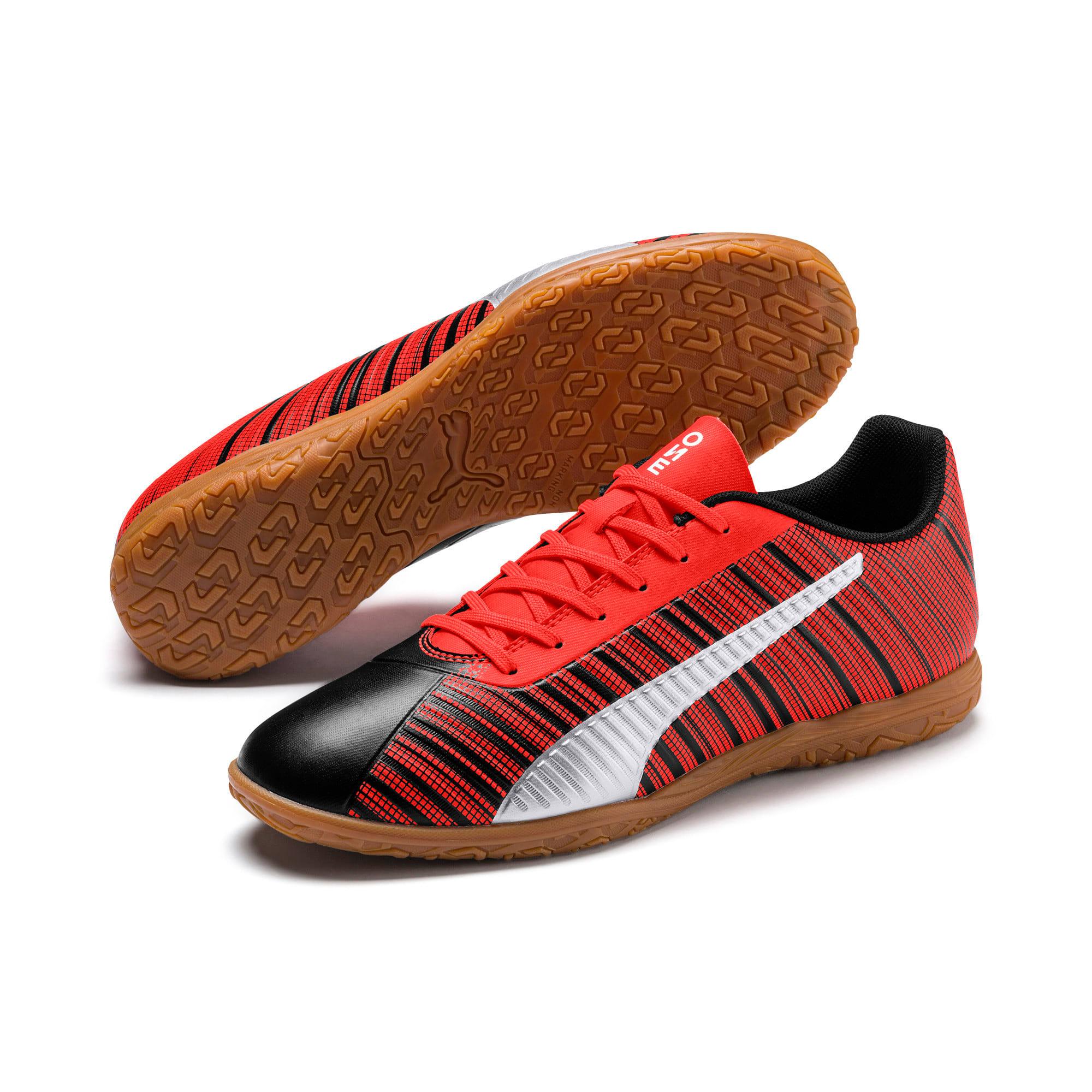 Thumbnail 2 of PUMA ONE 5.4 IT Men's Soccer Shoes, Black-Red-Silver-Gum, medium