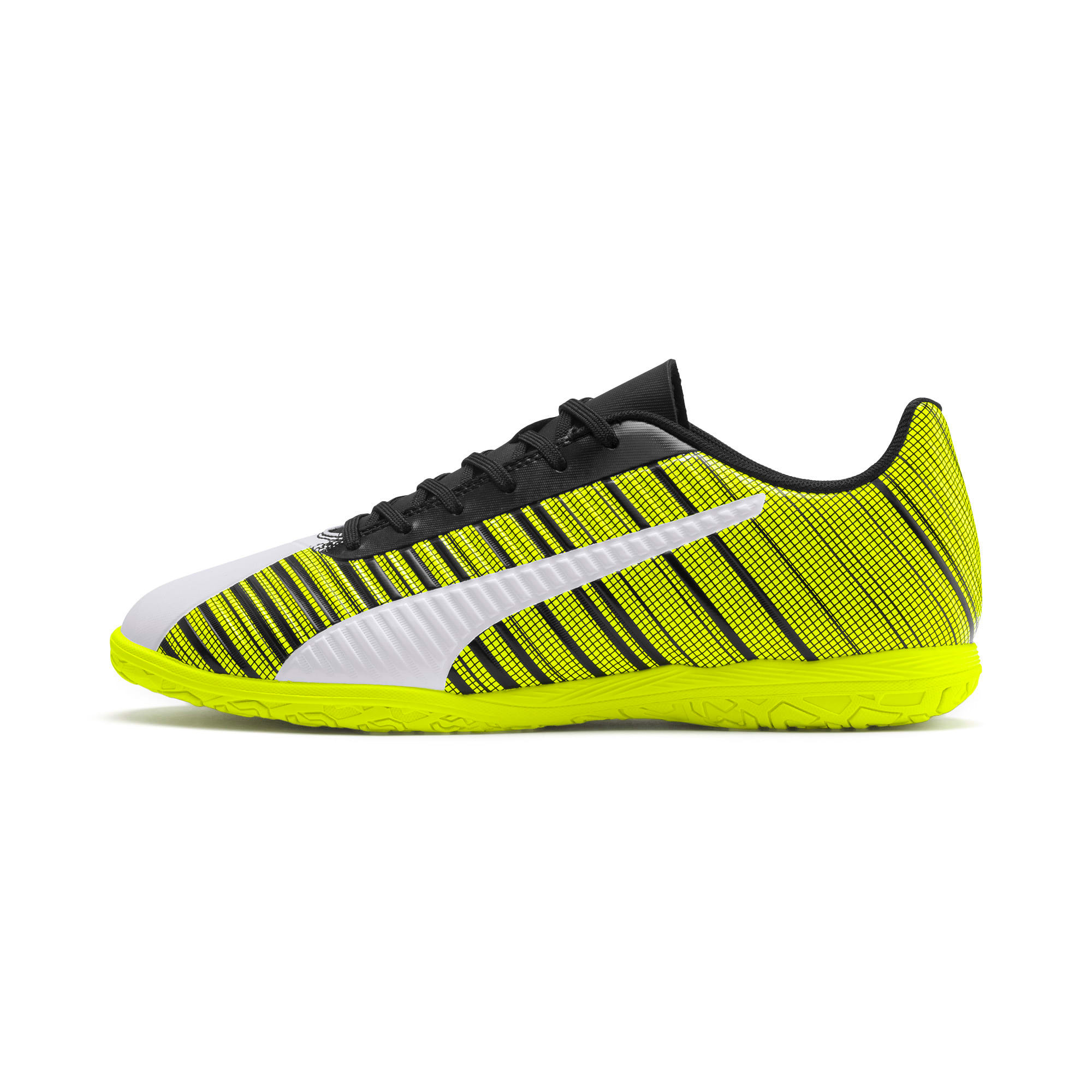Thumbnail 1 of PUMA ONE 5.4 IT Men's Football Boots, White-Black-Yellow Alert, medium