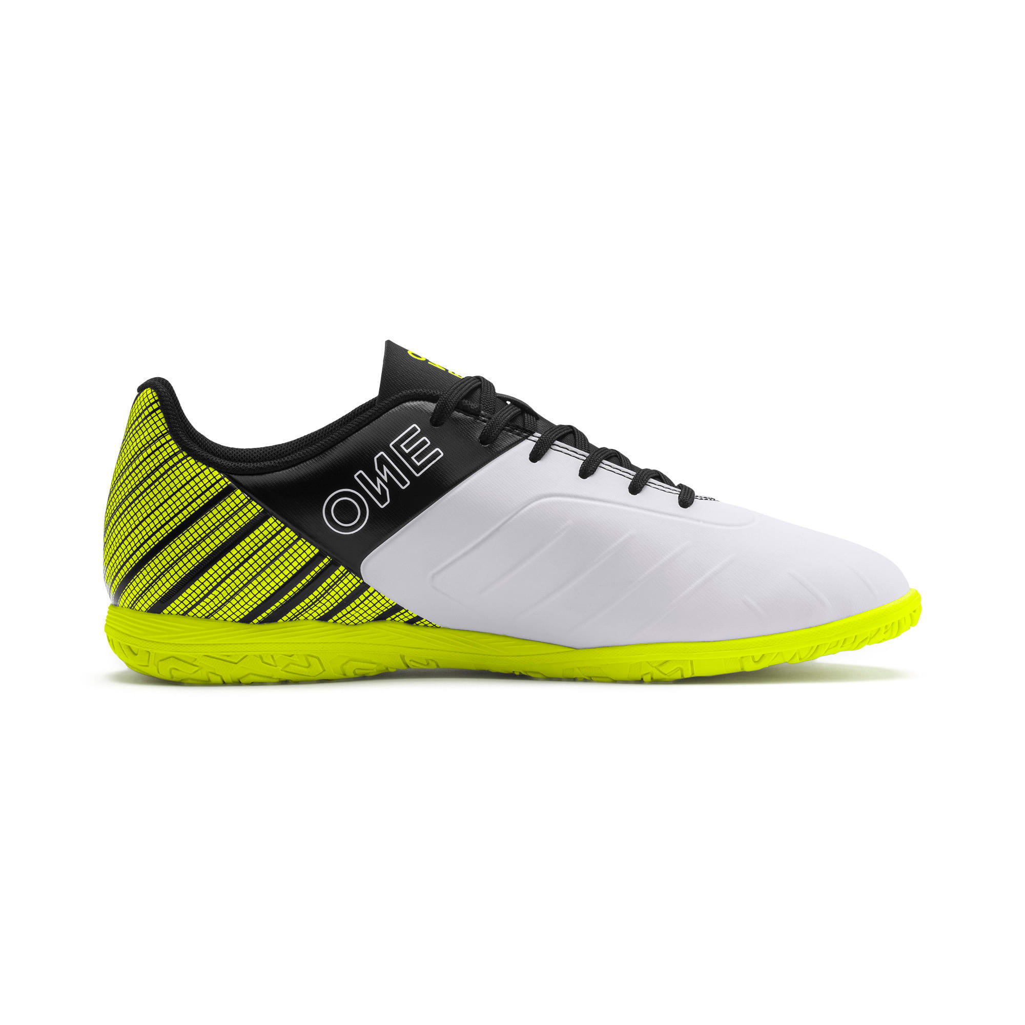 Thumbnail 6 of PUMA ONE 5.4 IT Men's Football Boots, White-Black-Yellow Alert, medium