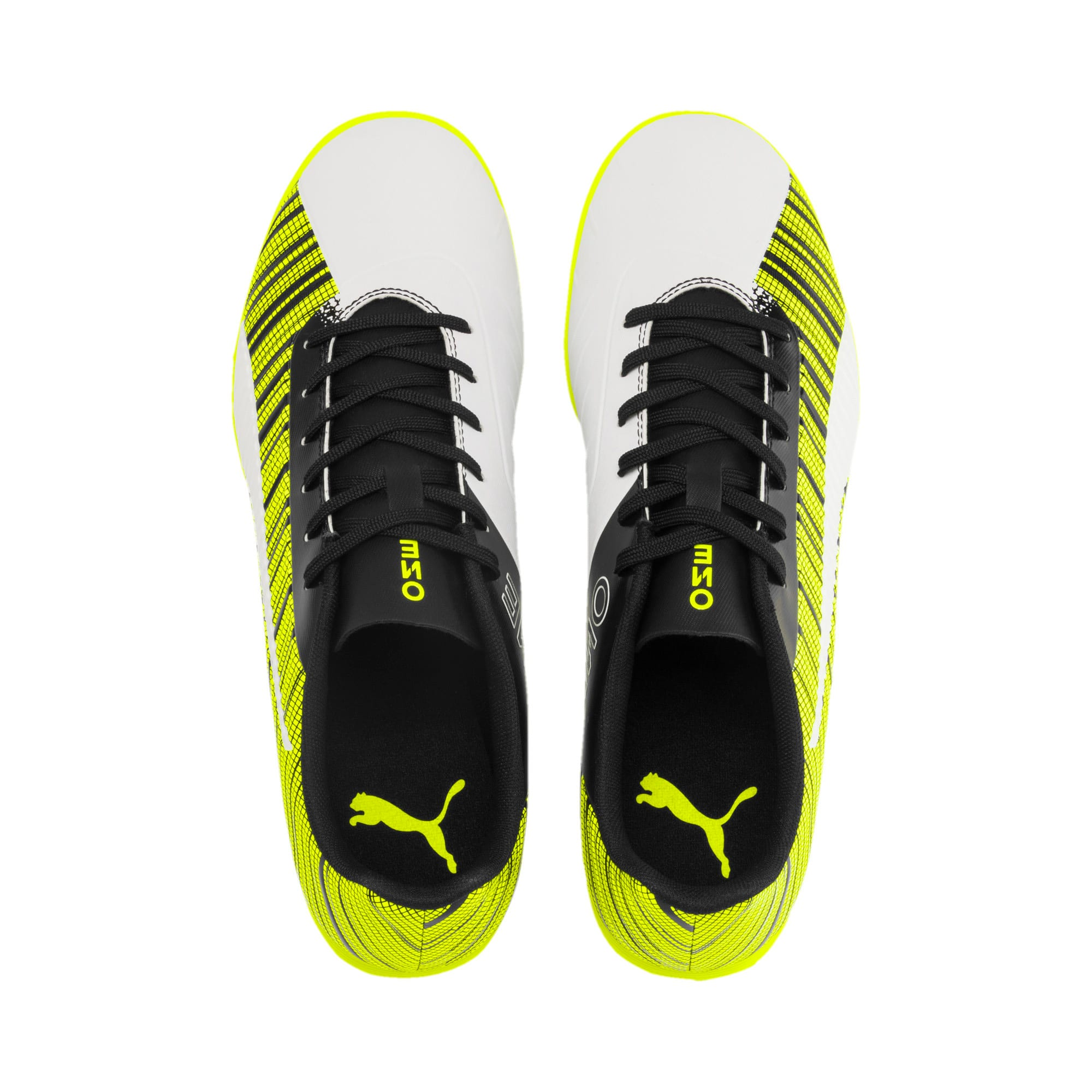 Thumbnail 7 of PUMA ONE 5.4 IT Men's Football Boots, White-Black-Yellow Alert, medium