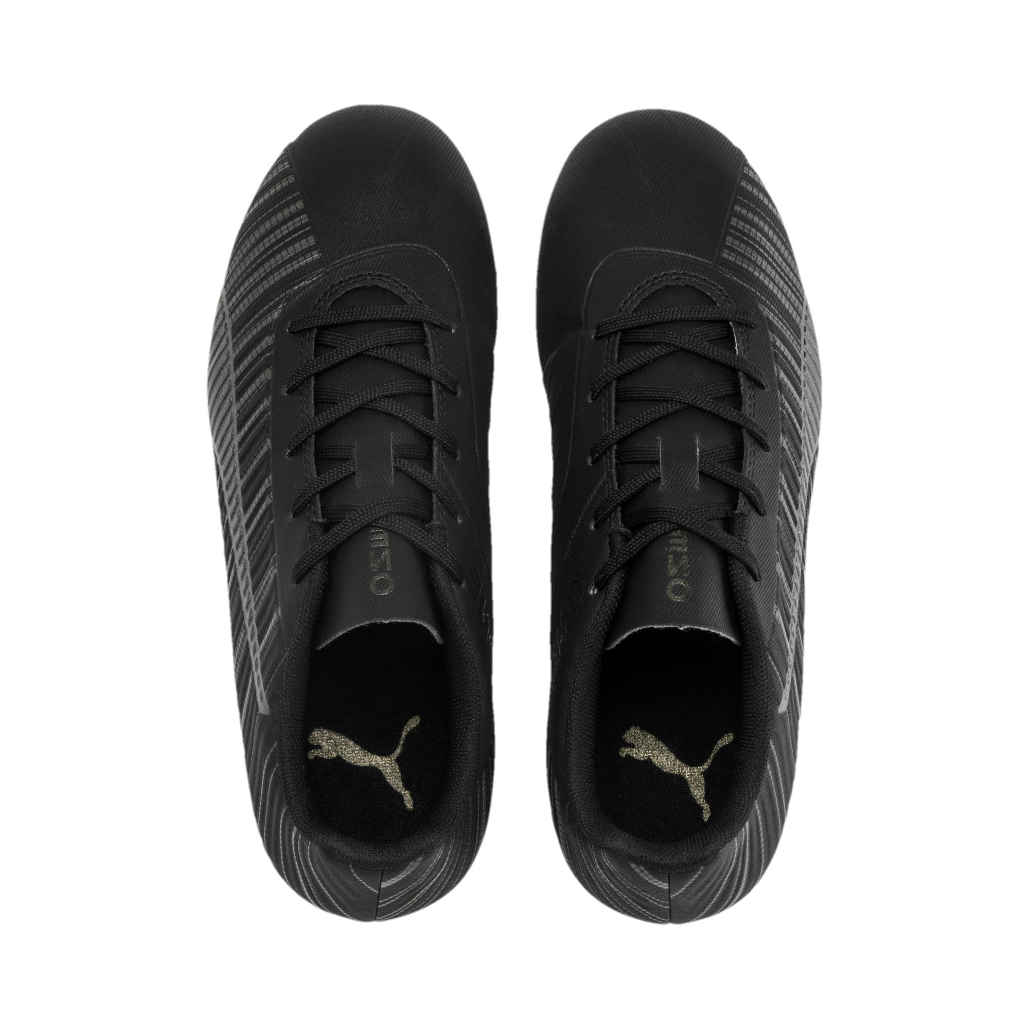 Thumbnail 6 of PUMA ONE 5.4 IT Youth Football Boots, Black-Black-Puma Aged Silver, medium
