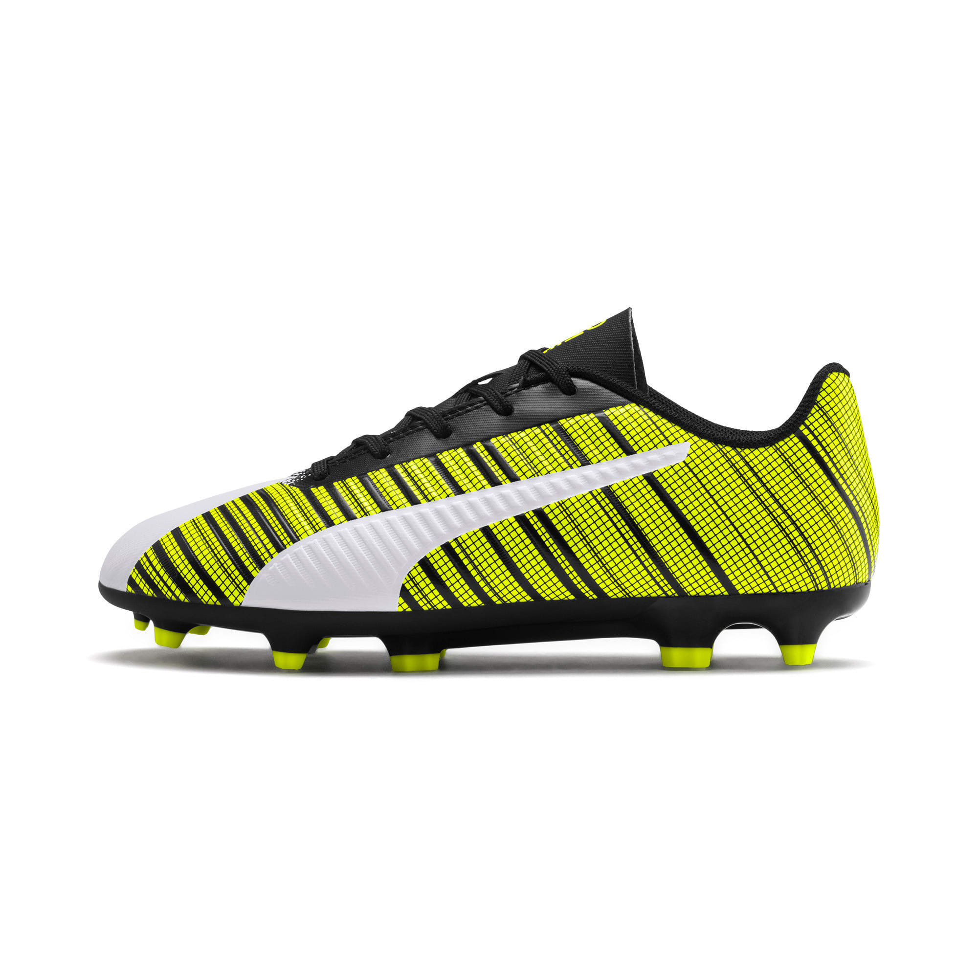 Thumbnail 1 of PUMA ONE 5.4 FG/AG Youth Fußballschuhe, White- Black-Yellow Alert, medium
