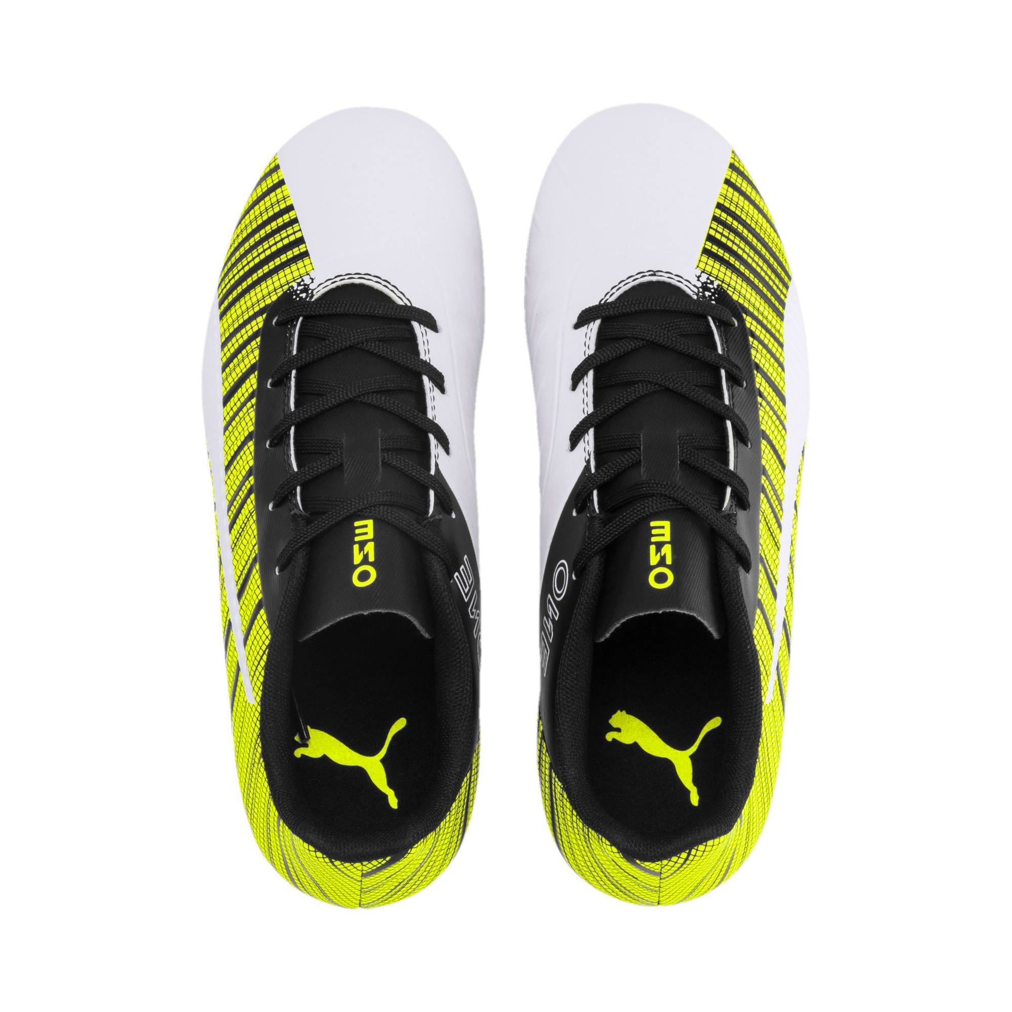 Thumbnail 6 of PUMA ONE 5.4 FG/AG Youth Fußballschuhe, White- Black-Yellow Alert, medium