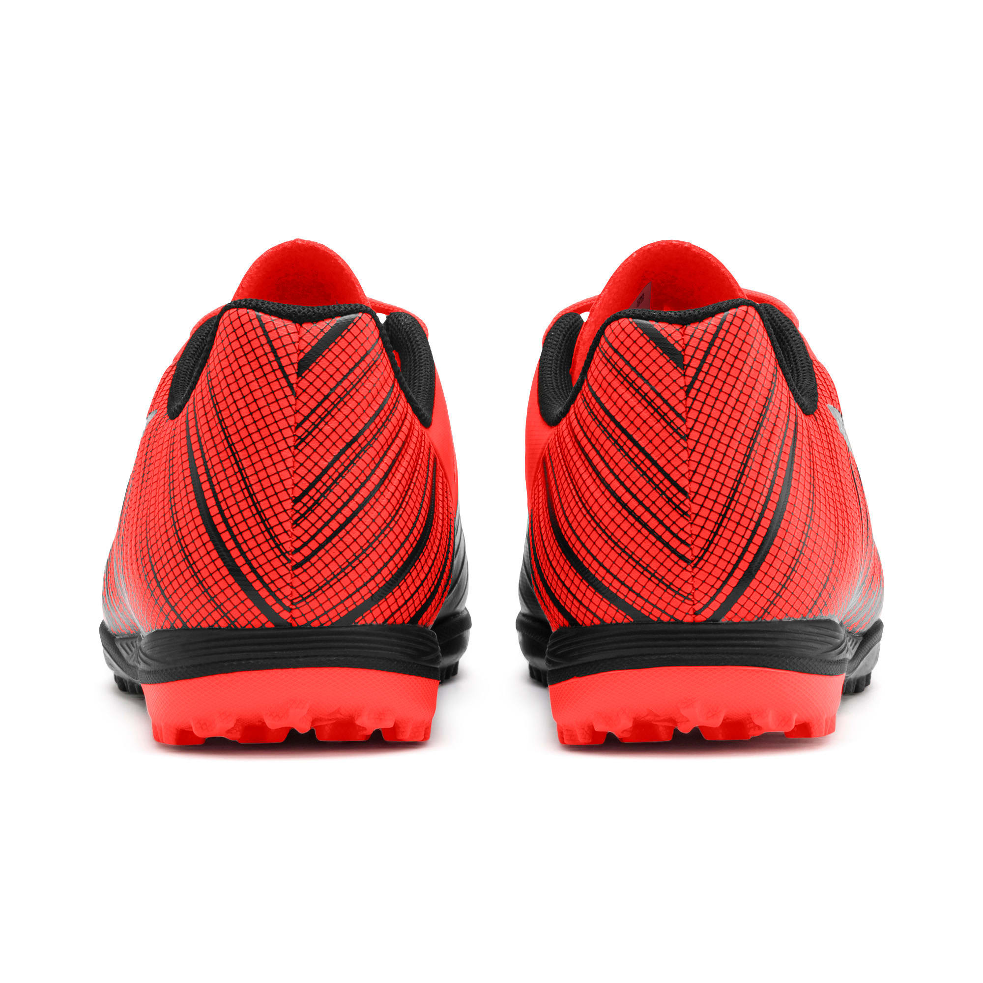 Thumbnail 3 of PUMA ONE 5.4 TT Soccer Shoes JR, Black-Nrgy Red-Aged Silver, medium
