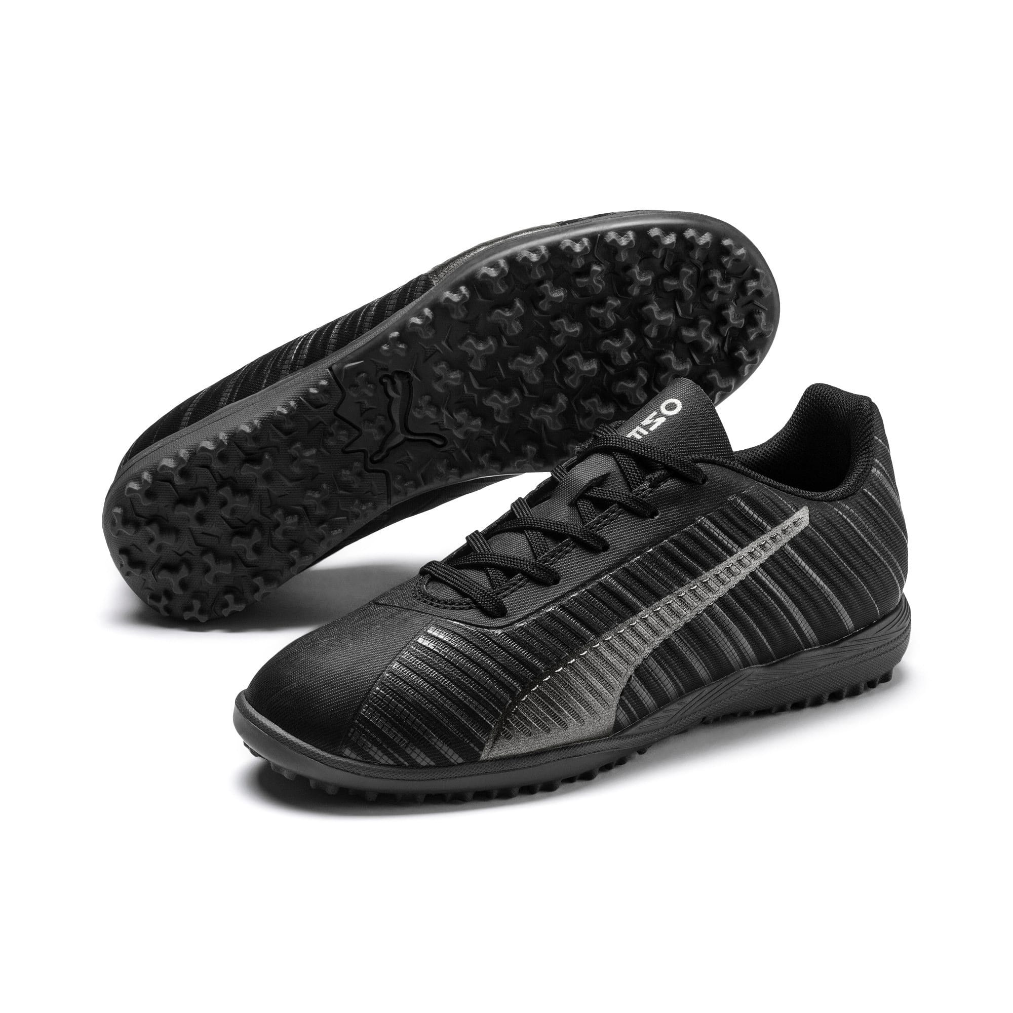 Thumbnail 2 of PUMA ONE 5.4 TT Youth Football Boots, Black-Black-Puma Aged Silver, medium