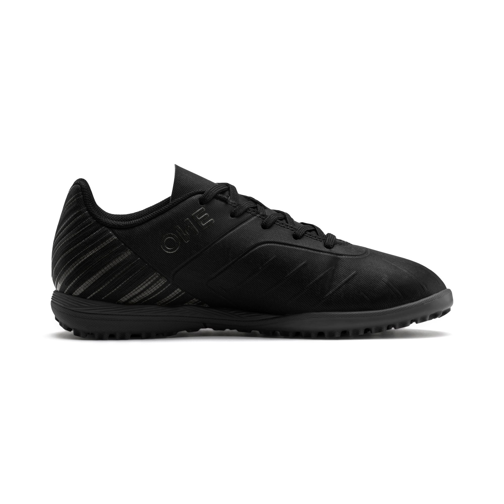 Thumbnail 5 of PUMA ONE 5.4 TT Youth Football Boots, Black-Black-Puma Aged Silver, medium