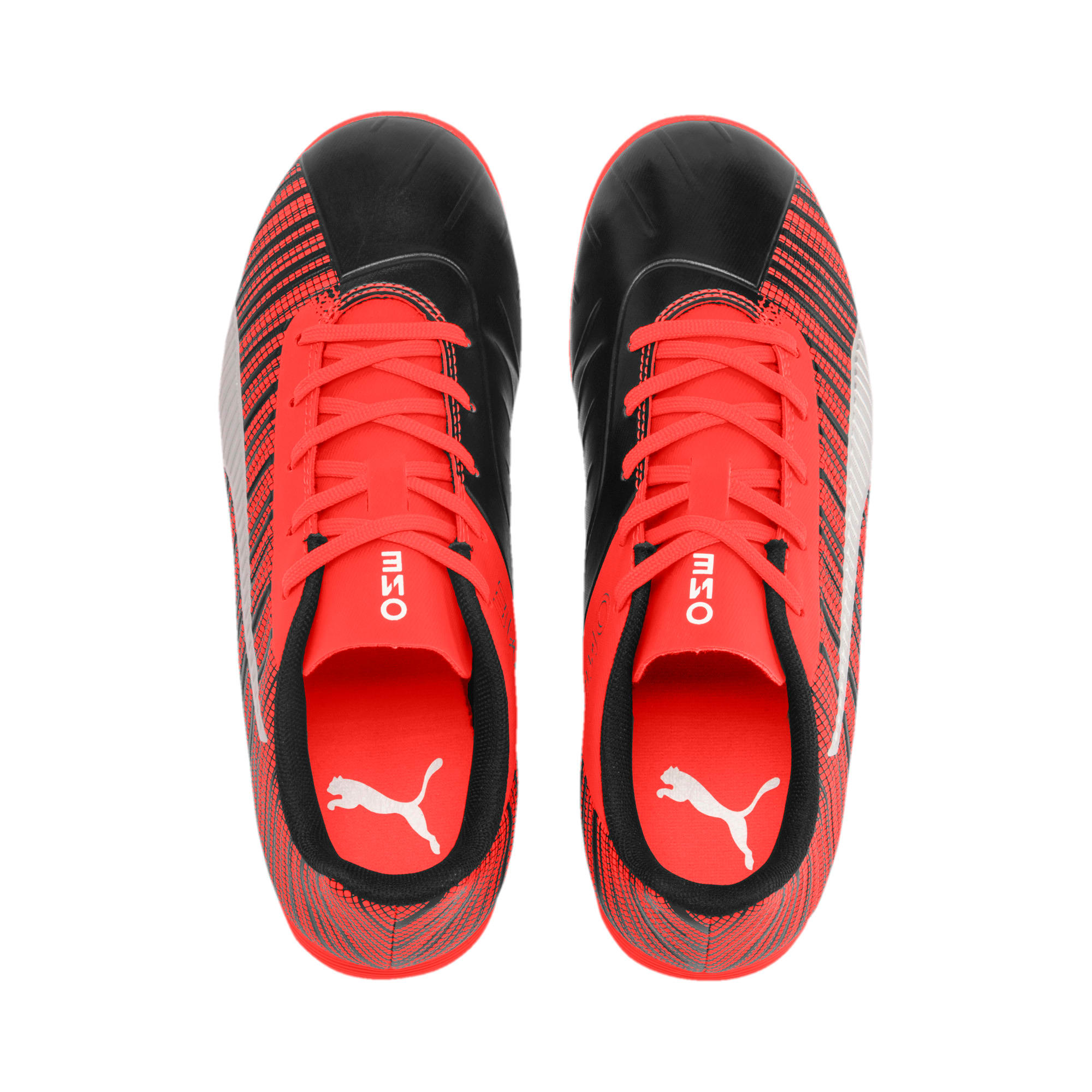Thumbnail 6 of PUMA ONE 5.4 IT Soccer Shoes JR, Black-Nrgy Red-Aged Silver, medium
