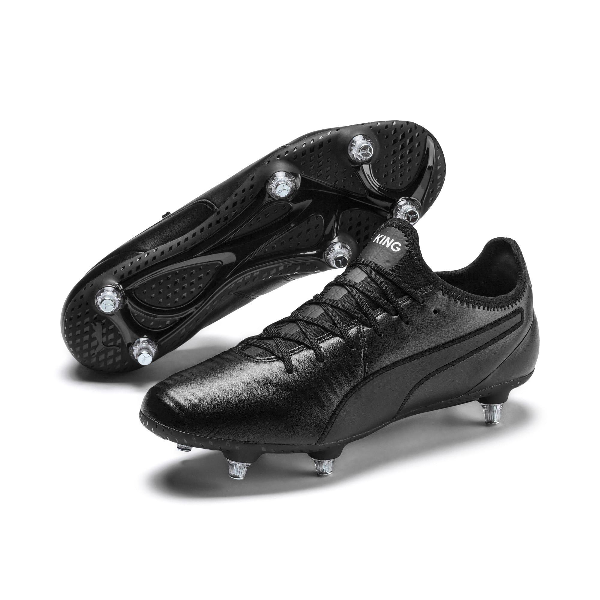 Thumbnail 3 of KING SG Men's Football Boots, Puma Black-Puma White, medium