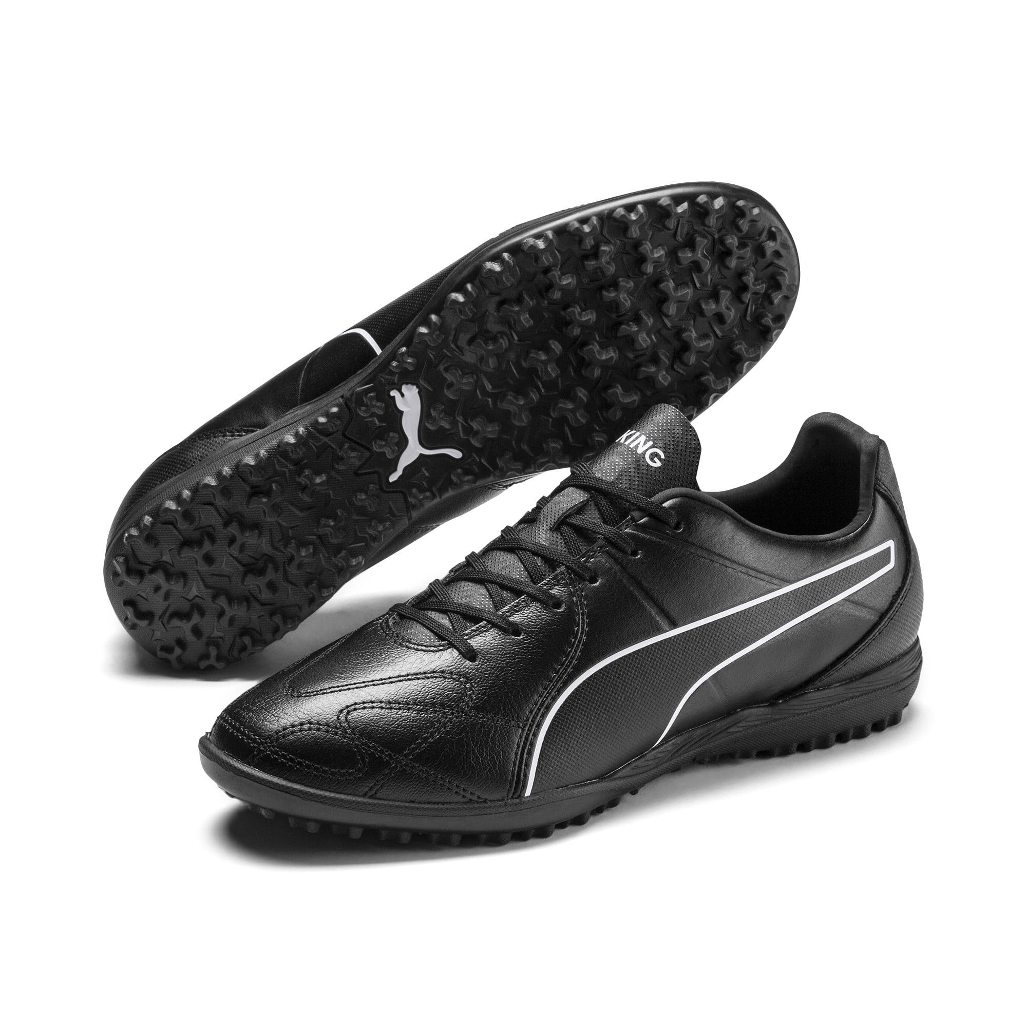 Thumbnail 4 of KING Hero TT Football Boots, Puma Black-Puma White, medium-IND