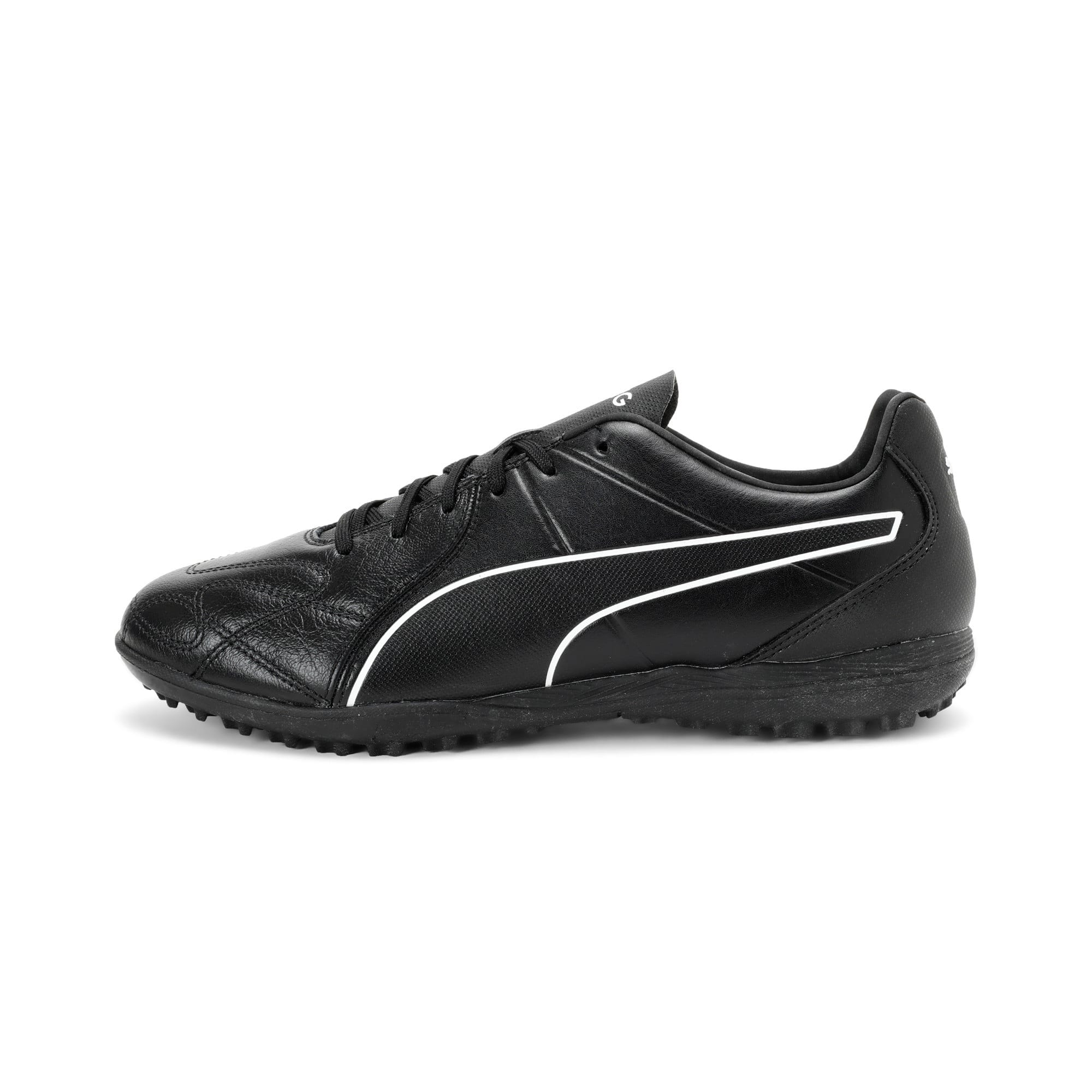 Thumbnail 1 of KING Hero TT Football Boots, Puma Black-Puma White, medium-IND